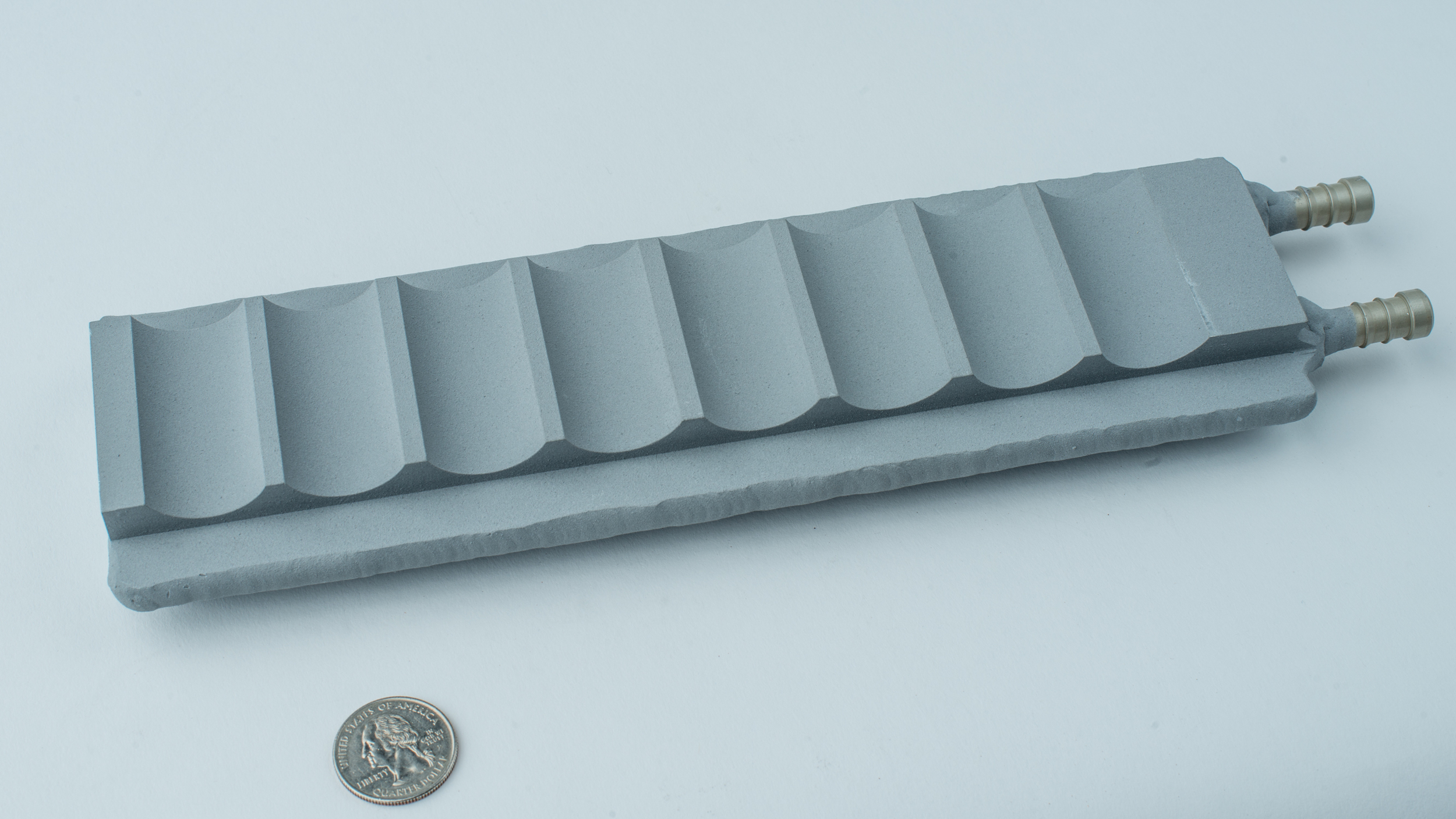 Liquid cold plate for small format Li-ion cells with dielectric coating