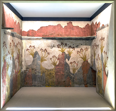 The Spring Fresco from Akrotiri (ca. 1600-1500 BC), National Museum of Athens