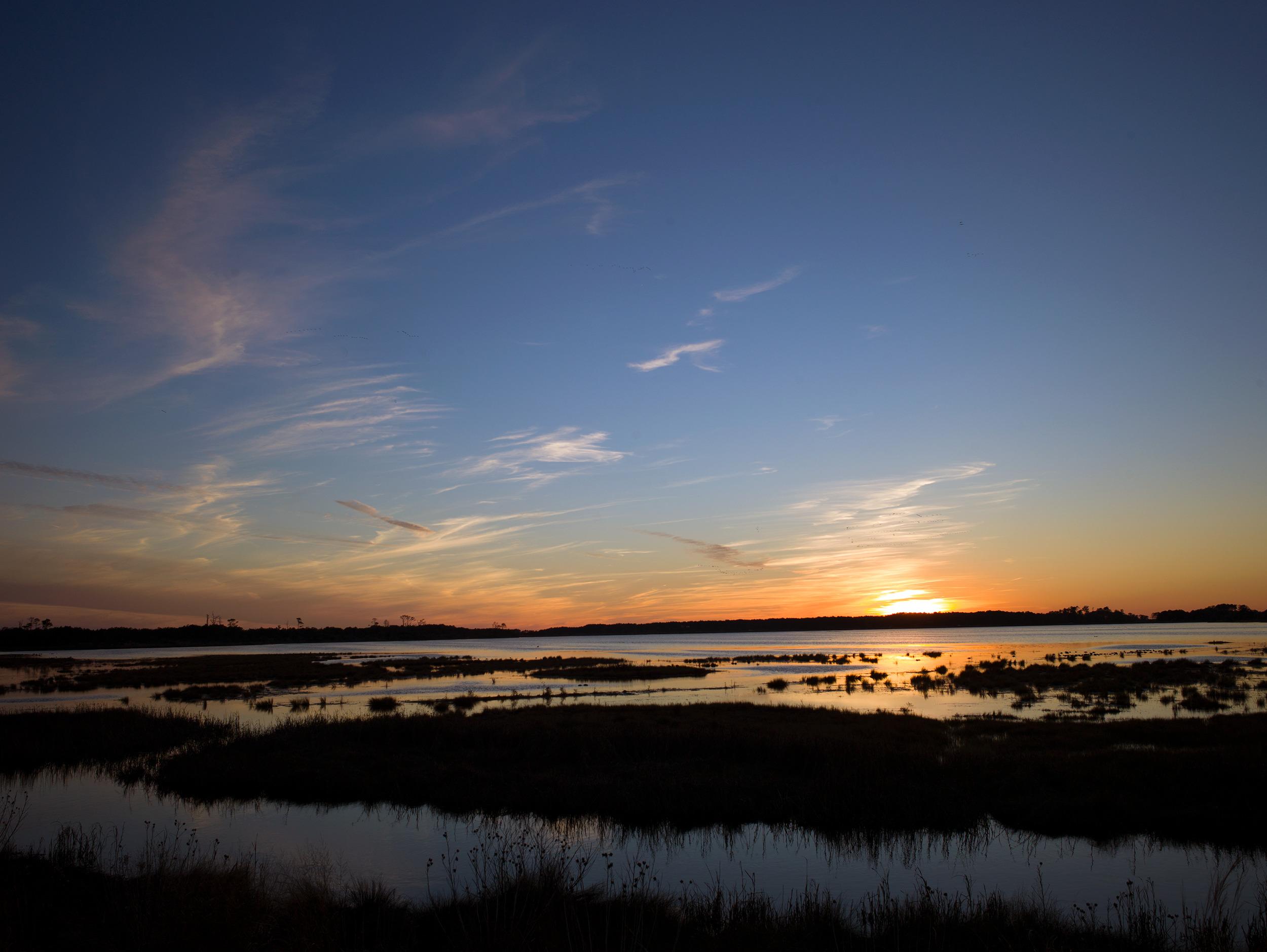 Sunset, Snow Goose Pond, Virginia District (2015)