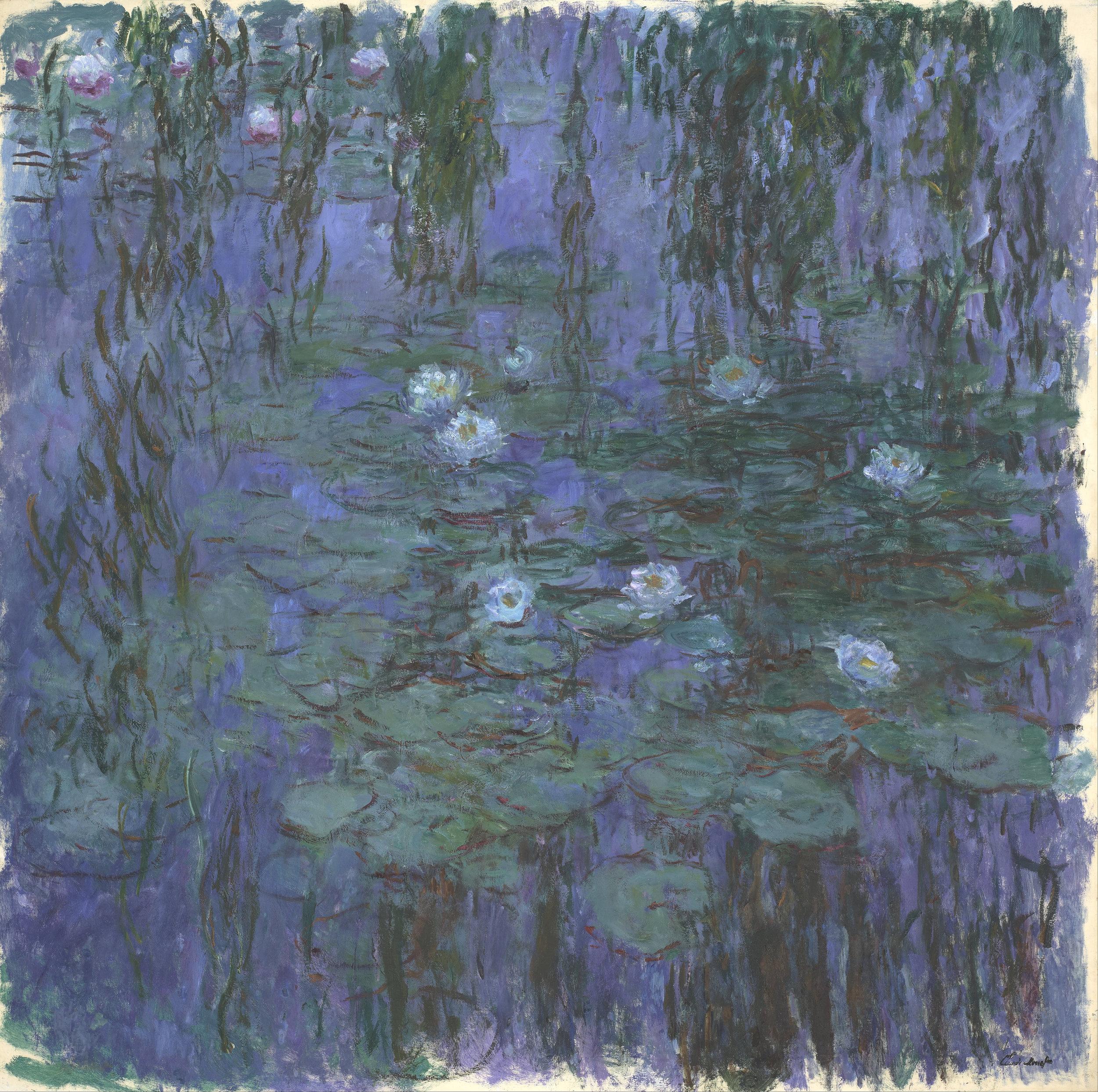 Claude Monet,  Blue Water Lilies (Nymphéas bleus),  Musée d'Orsay