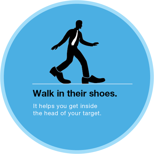 Walk in their shoes.