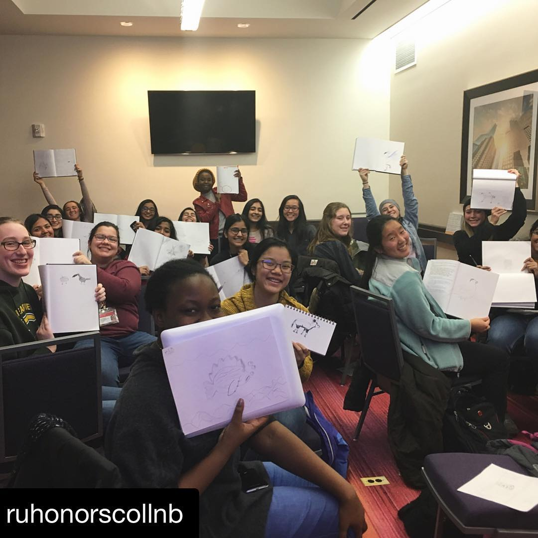 Image courtesy of Rutgers University Honors College Instagram and Julia Buntaine