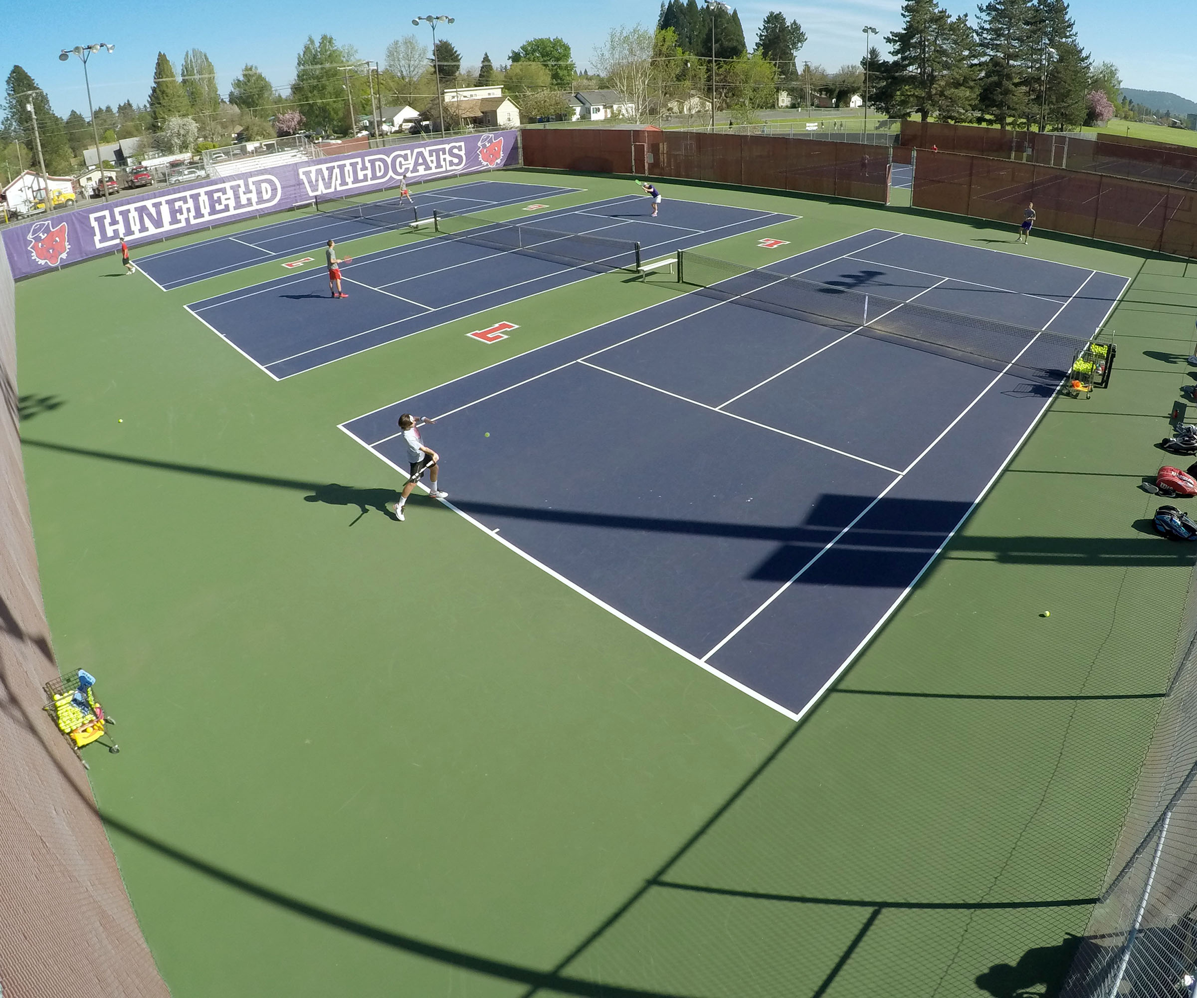 The Linfield College Tennis Courts