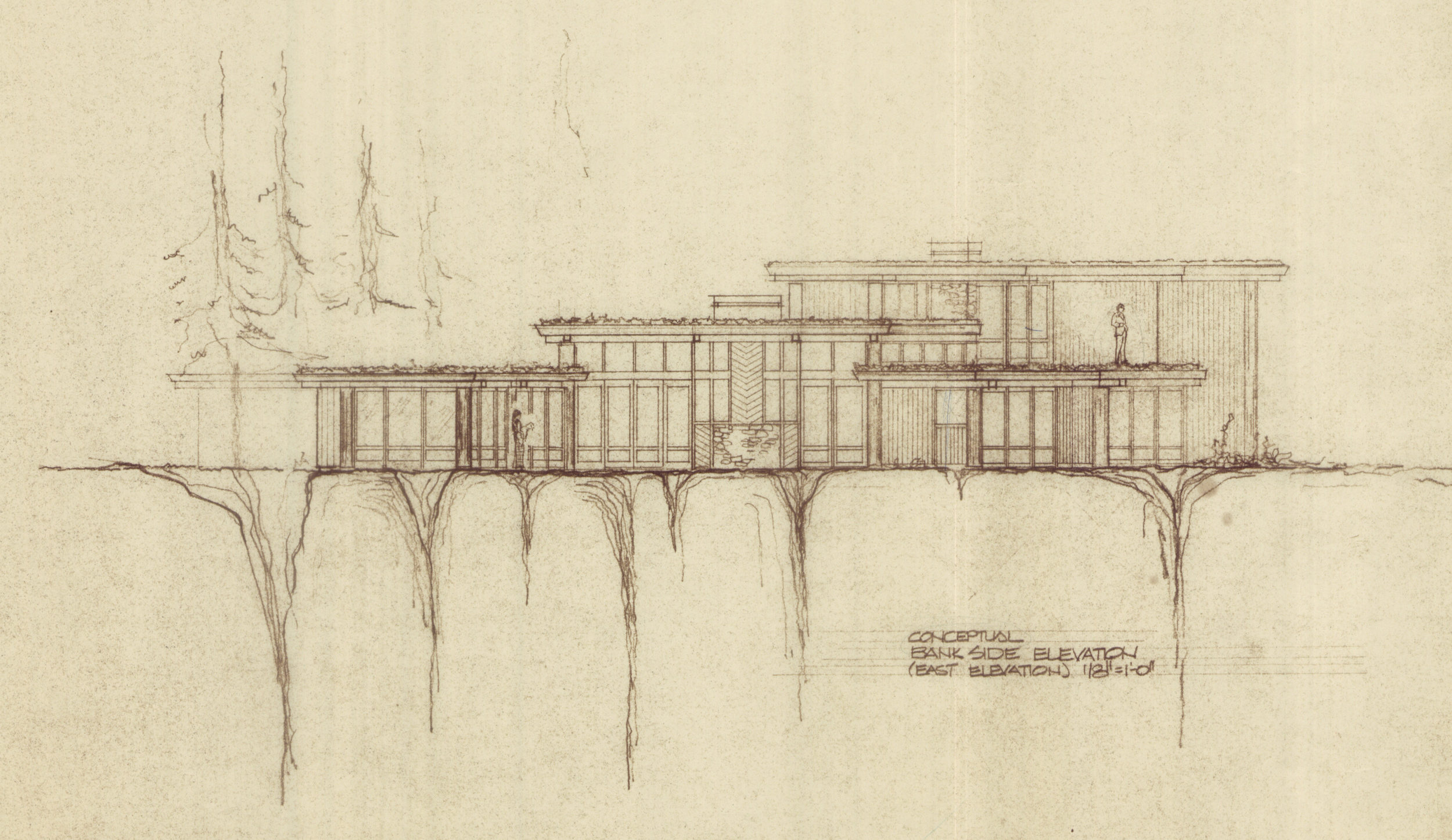 Original Plans - Conceptual Bank Side Elevation