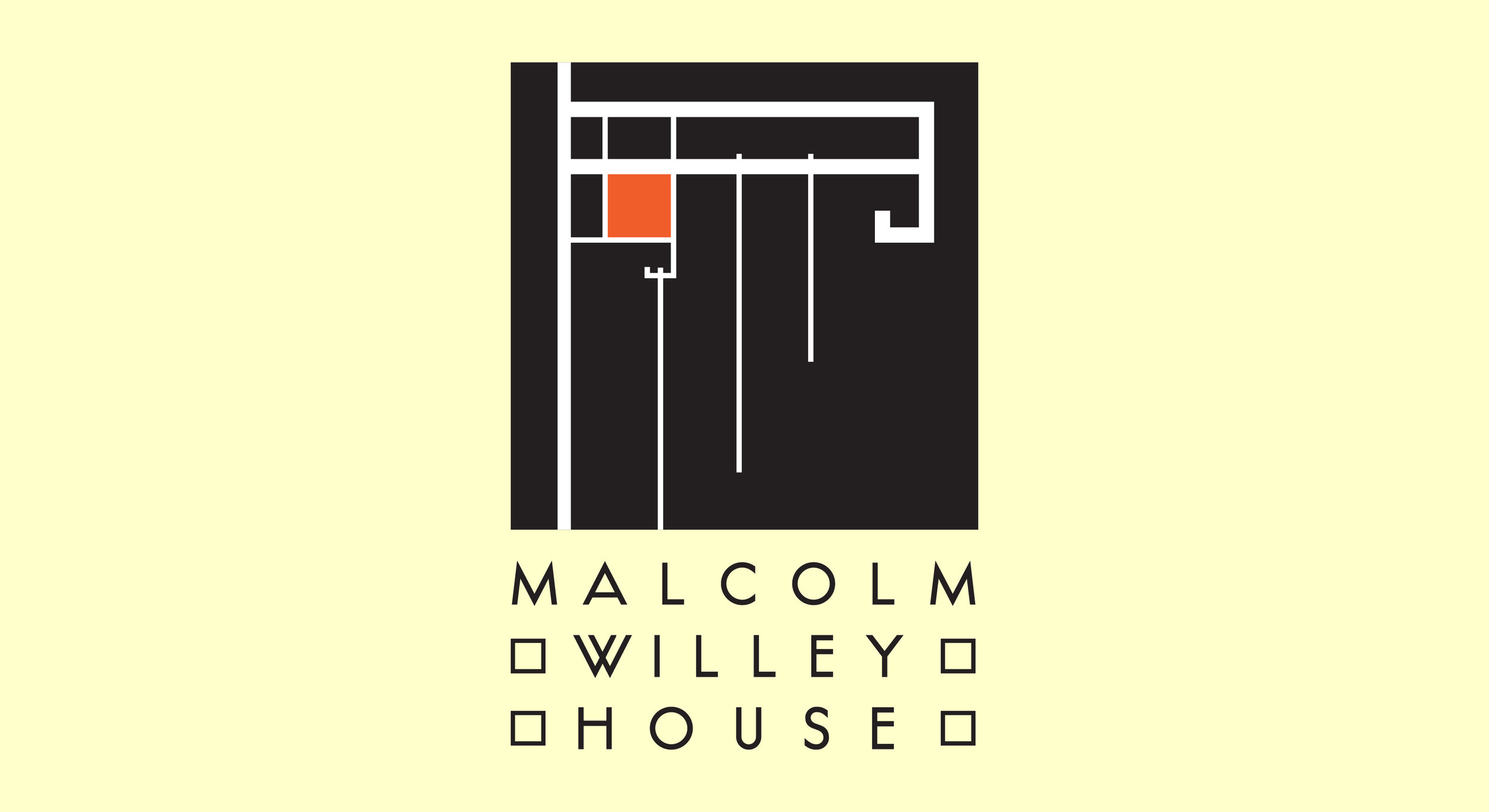 Identity for a house designed by Frank Lloyd Wright in the 1930s that resurrected his career and introduced many ideas now considered commonplace in modern domestic architecture.