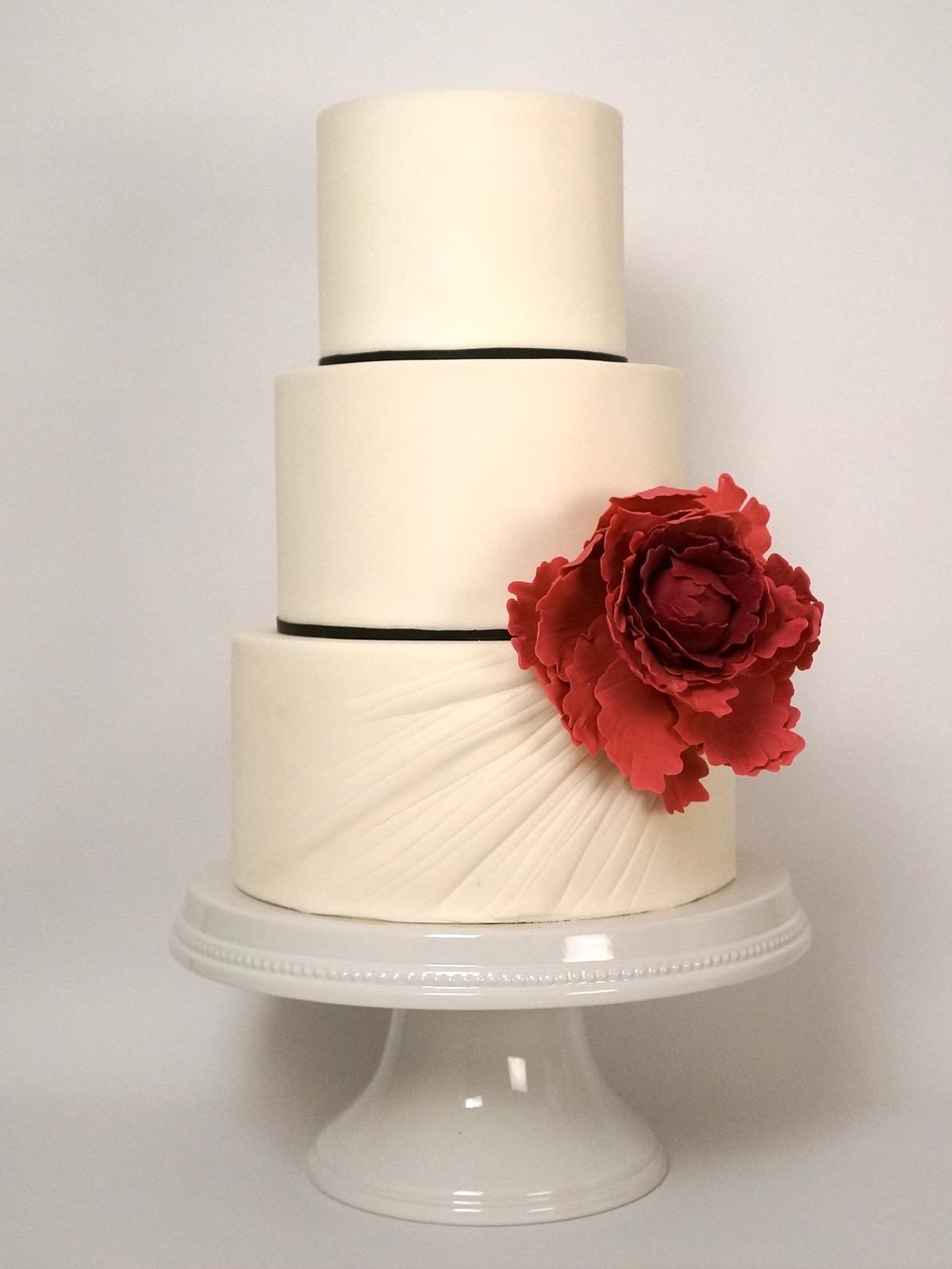 ruched-peony-flower-red-black-white-wedding-cake-baltimore-maryland.jpg