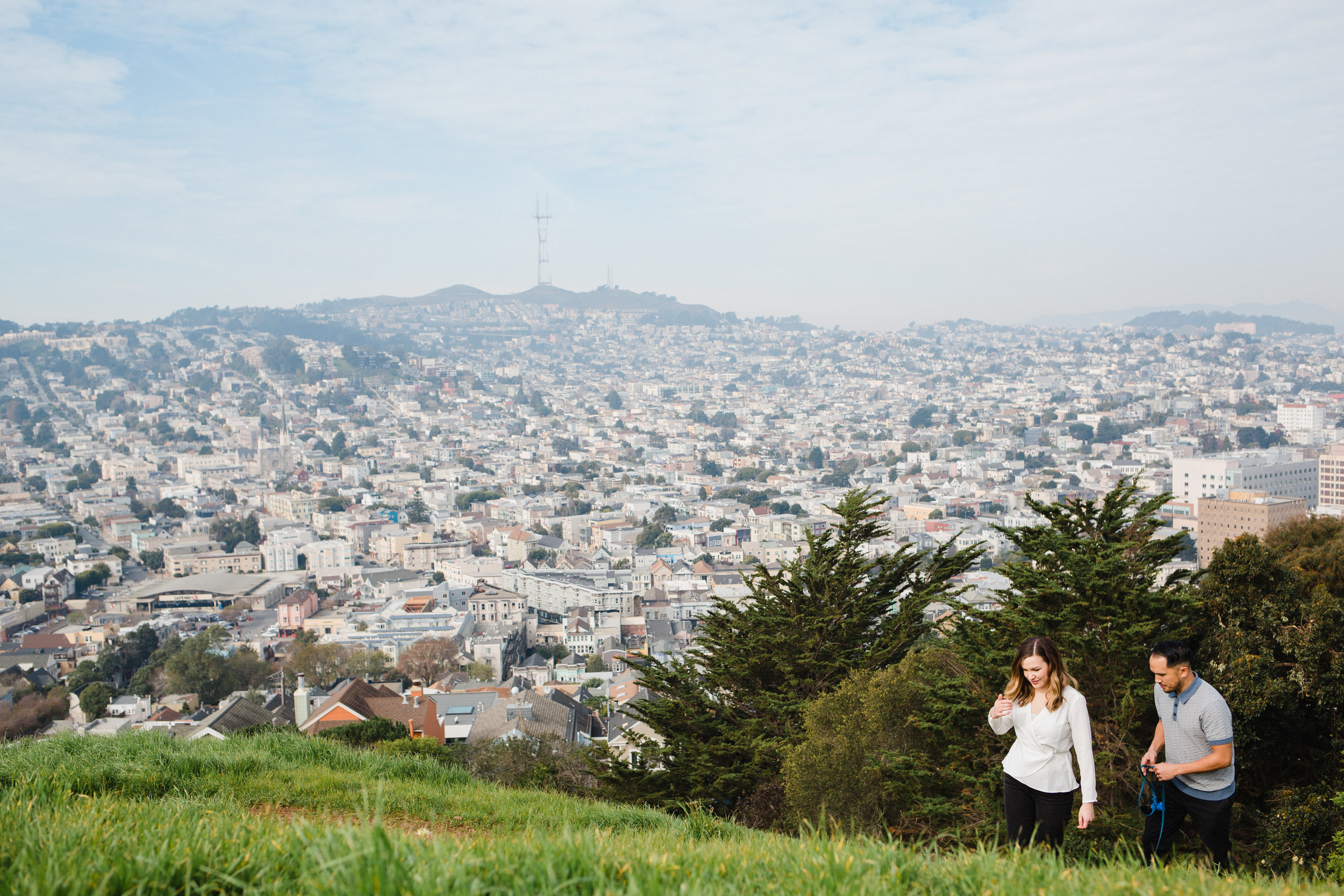 Excelsior + Bernal Heights Couple Session / San Francisco Engagement Photographer - Adlyn, Ruben + Riley