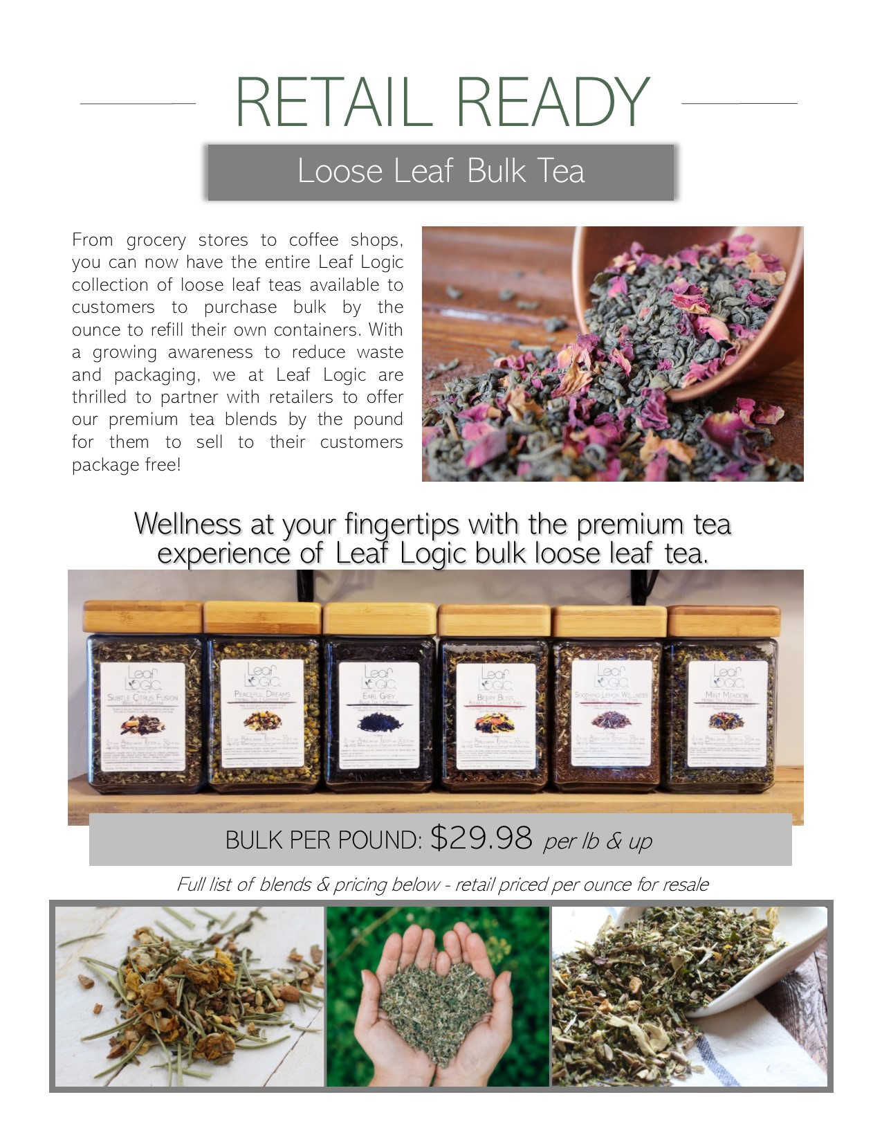 Wholesale — Leaf Logic Wellness Tea