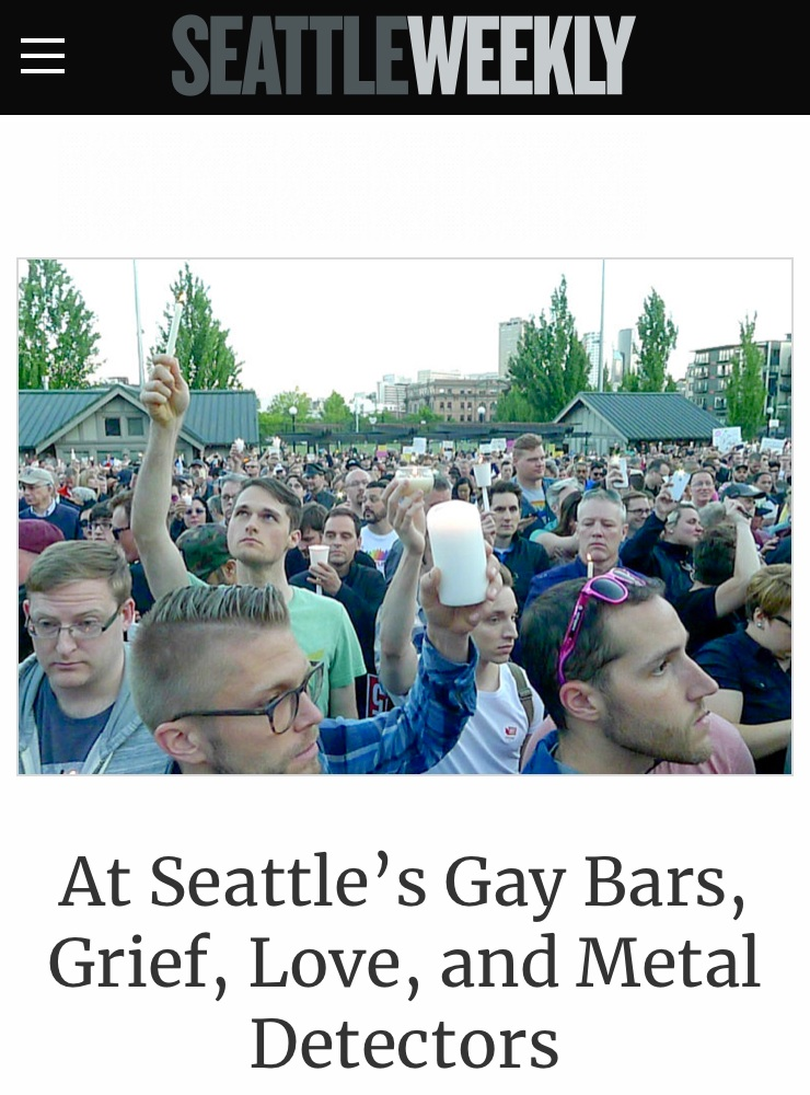 - Breaking news coverage of how the Orlando nightclub shooting resonated with Seattle's gay community, reported the day of the incident.