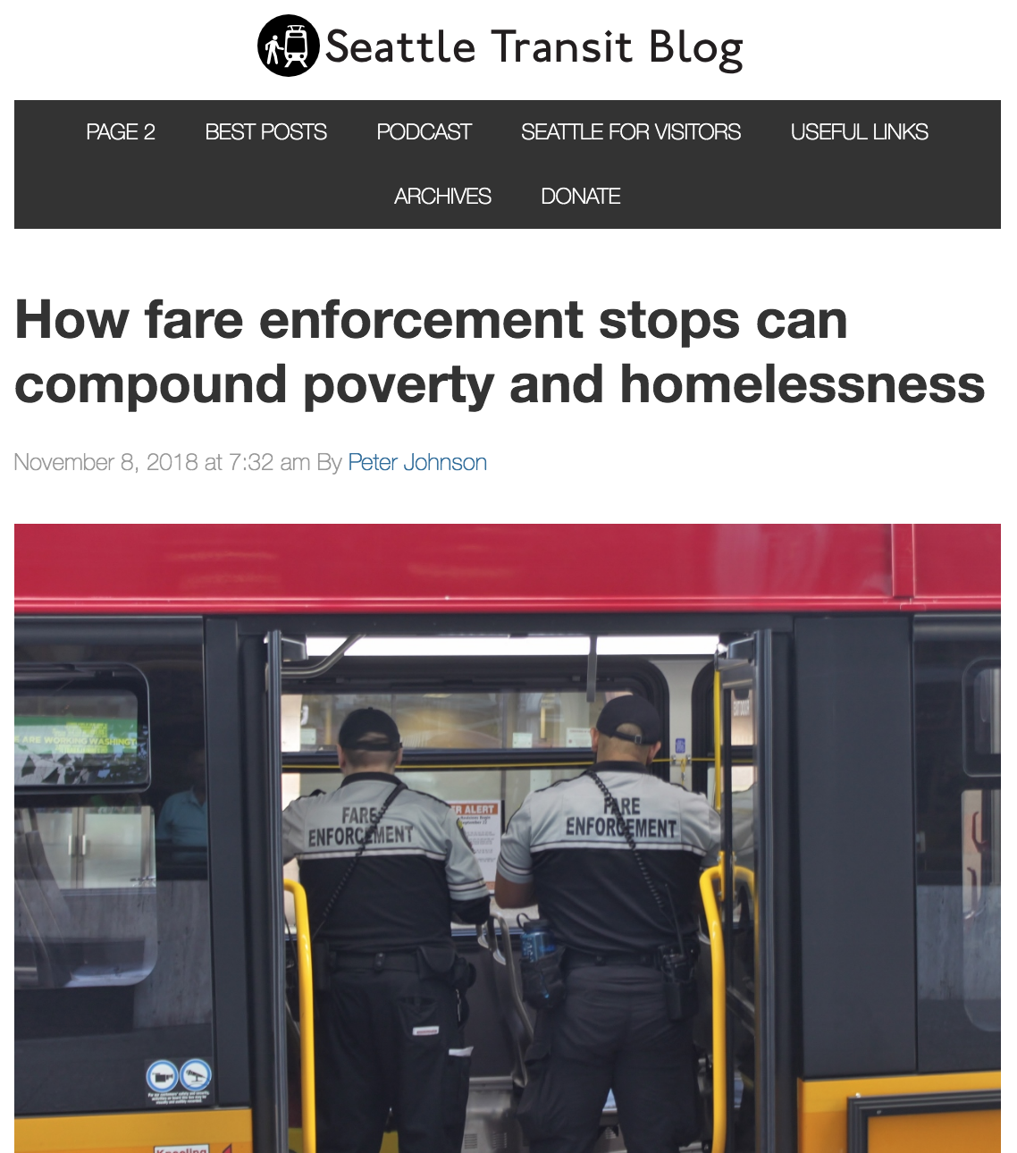 - A three-part investigative series about how Seattle's justice system interacts with the most vulnerable transit riders.