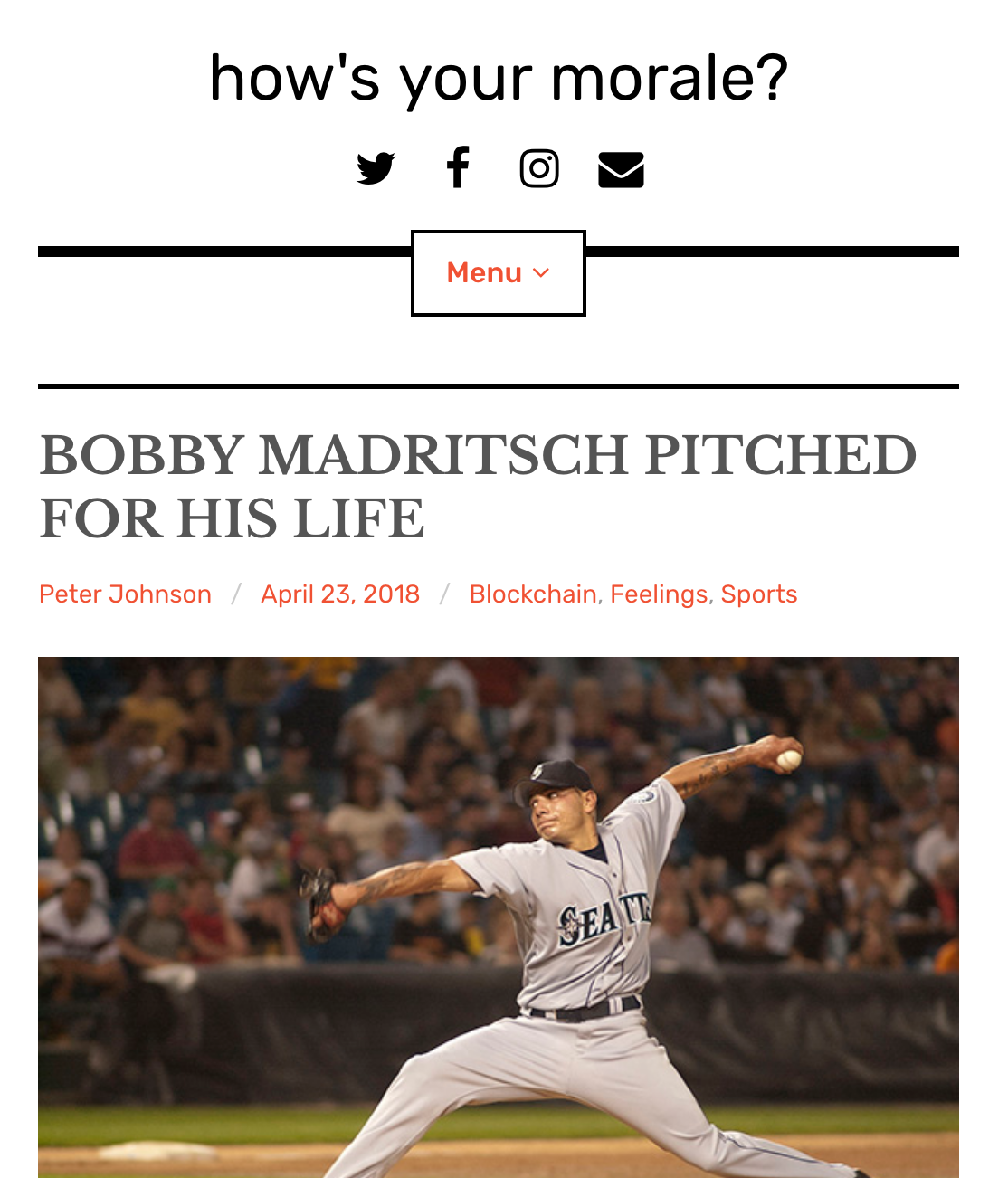 - A post about labor economics and race in baseball, told through the story of Bobby Madritsch, a rare Native American major leaguer.
