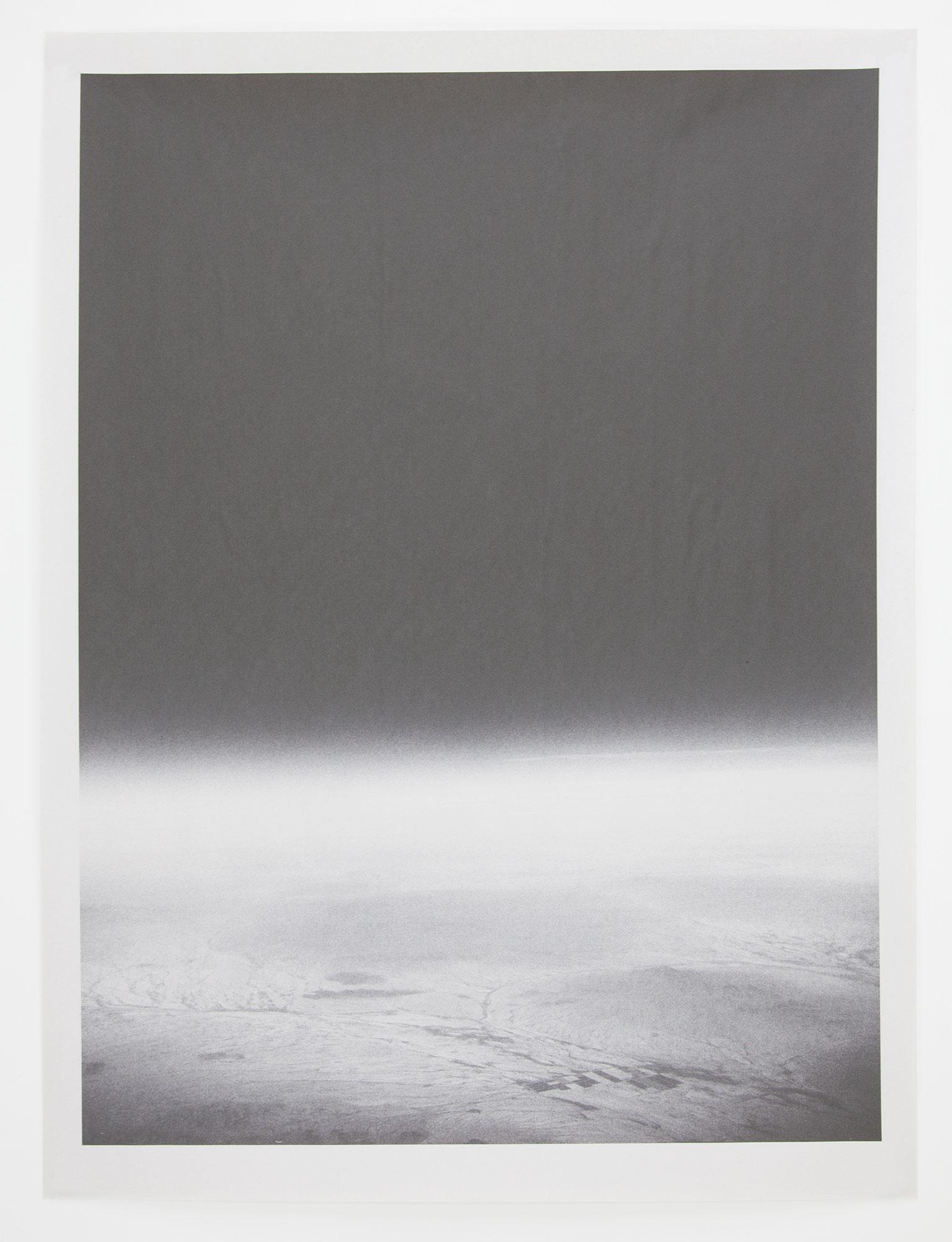 AZ_1166 , unique pigment print on newsprint, 18 x 24 inches, 2015