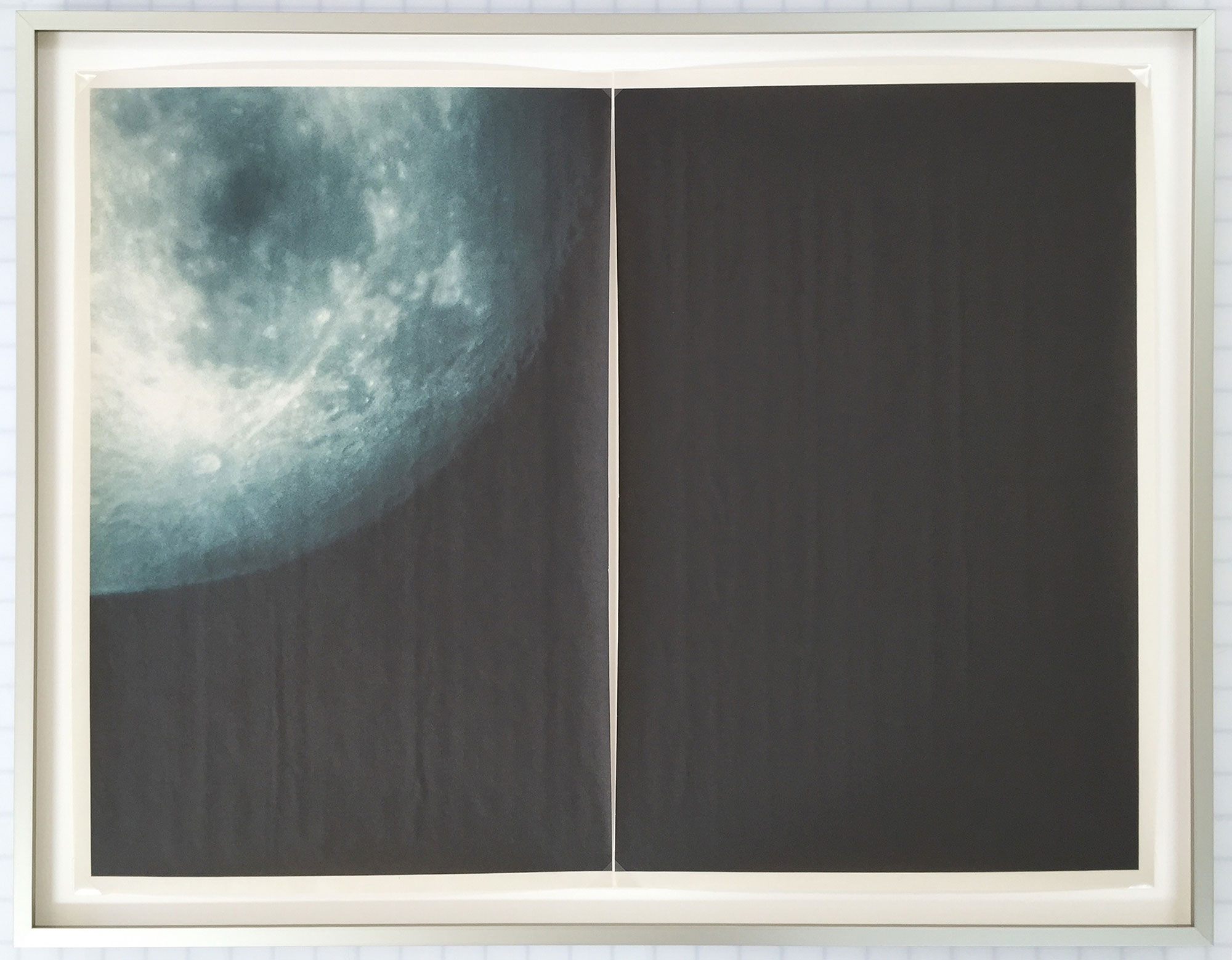 BS_7366 , unique diptych pigment print on newsprint, aluminum artist frame, 20.75 x 20 inches, 2015