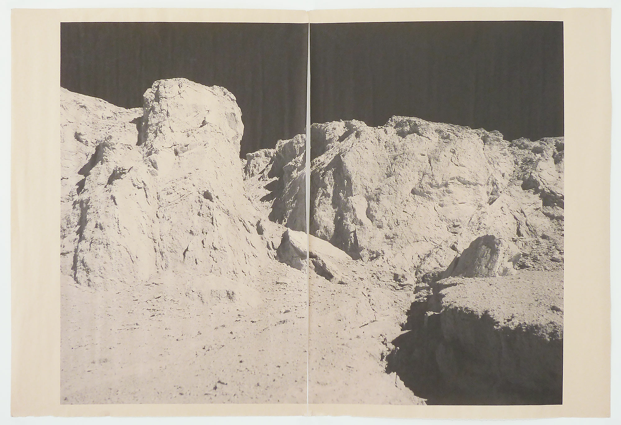 DV_7276,  unique diptych print on newsprint, 36 x 24 inches, 2014