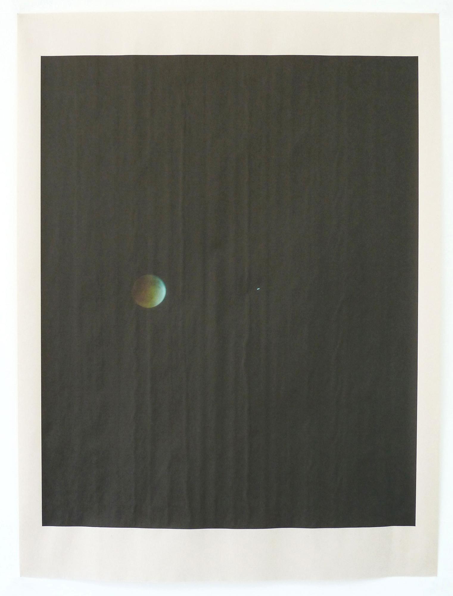 LA_12391 , unique pigment print on newsprint, 18 x 24 inches, 2015
