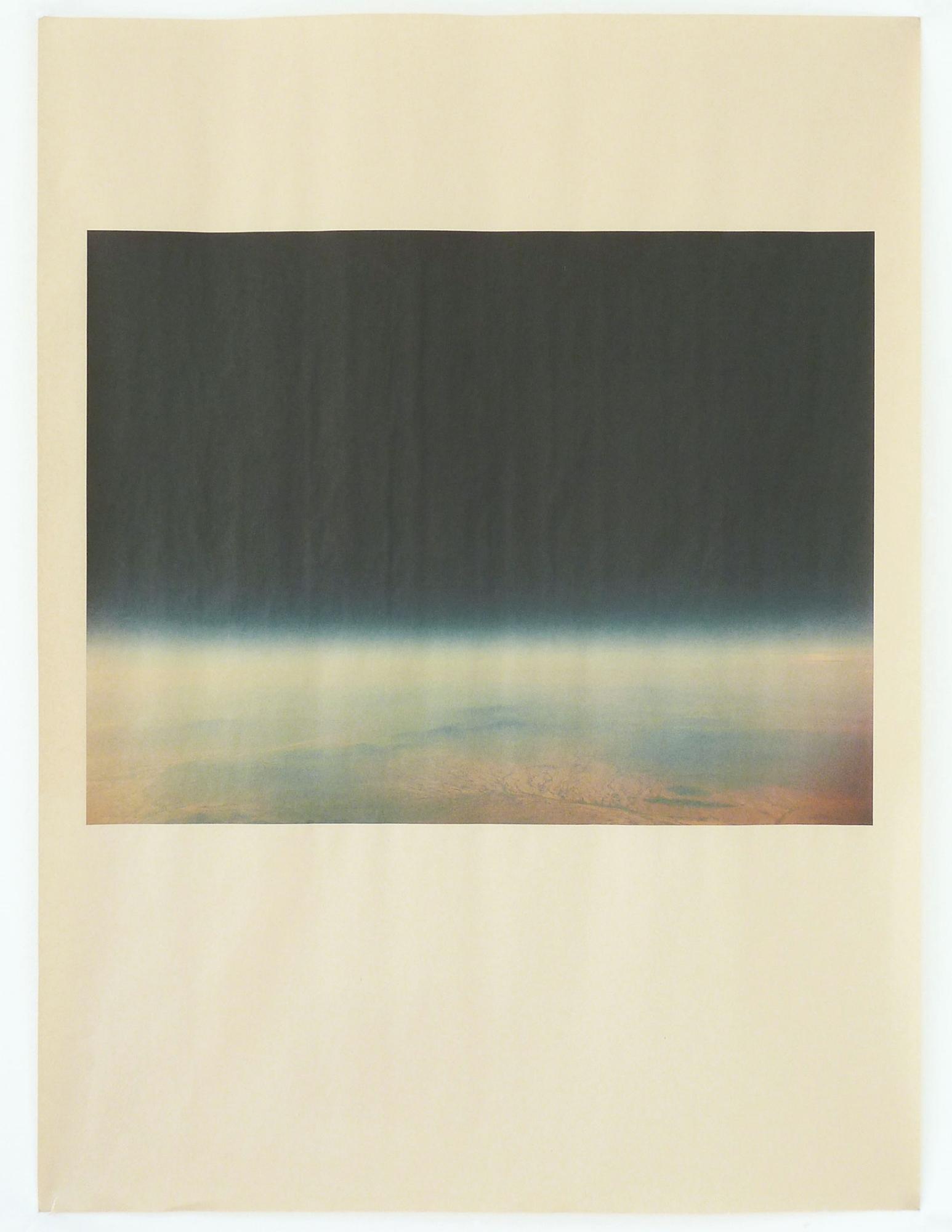 AZ_1164 , unique pigment print on newsprint, 18 x 24 inches, 2015