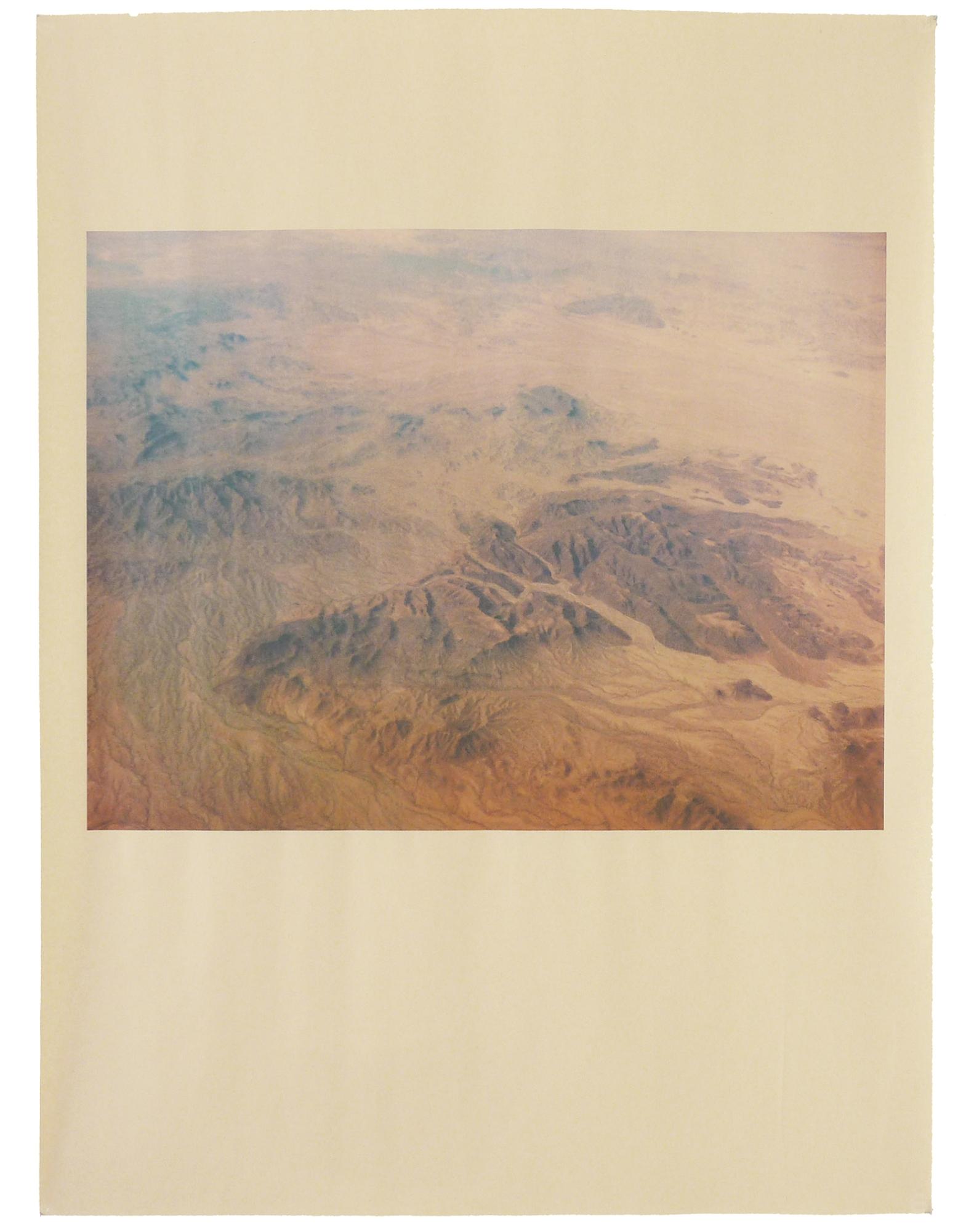 AZ_1140 , unique pigment print on newsprint, 18 x 24 inches, 2014