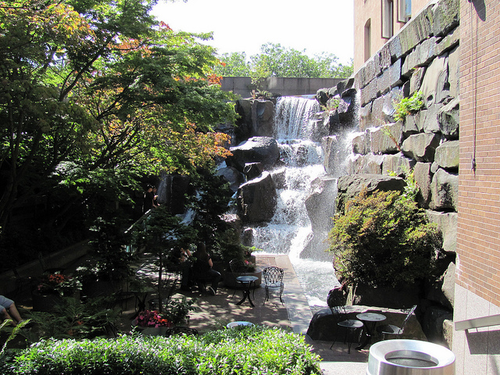 """""""Waterfall Park near Pioneer Square,""""  by Robert Ashworth. Licensed under Attribution 2.0 Generic (CC BY 2.0) via Flickr Creative Commons."""