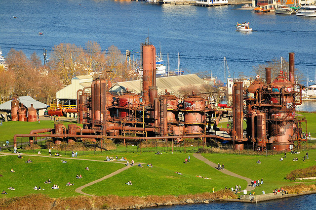 """ Gas Works Park ,"" by Tony Cyphert. Licensed under Attribution-NonCommercial-NoDerivs 2.0 Generic (CC BY-NC-ND 2.0)."