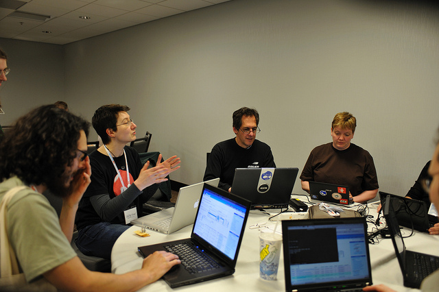 """ ChX Coder Lounge "" by Kathleen Murtagh. Licensed under CC by 2.0 by Flickr Creative Commons."