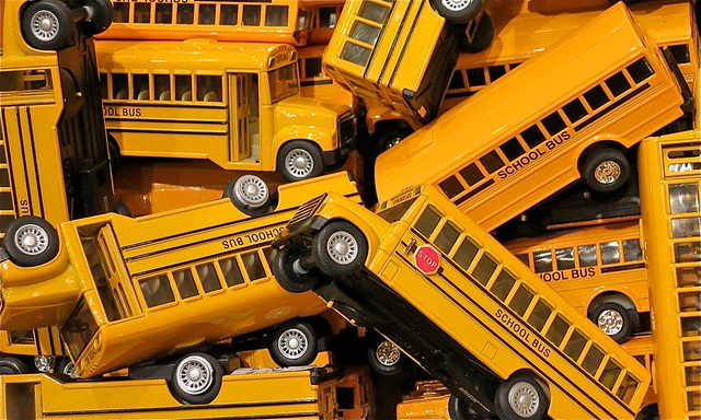 """IMAGE 1 ("""" School Buses ,"""" by Dean Hochman. Licensed under  Attribution 2.0 Generic (CC BY 2.0) .)"""