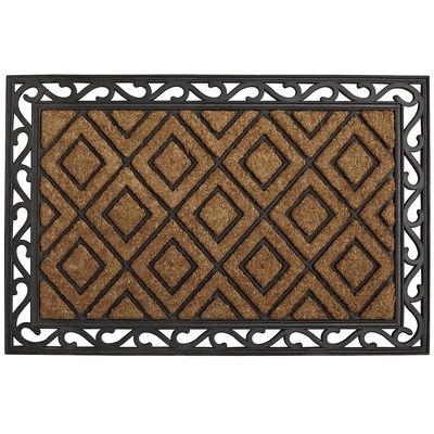 Diamond and Scroll Doormat from Pier One.