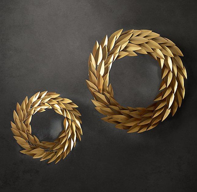 Brass Laurel Wreath Collection by Restoration Hardware