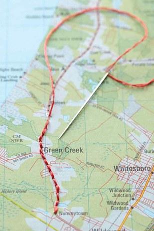 Map Artwork by Martha Stewart.