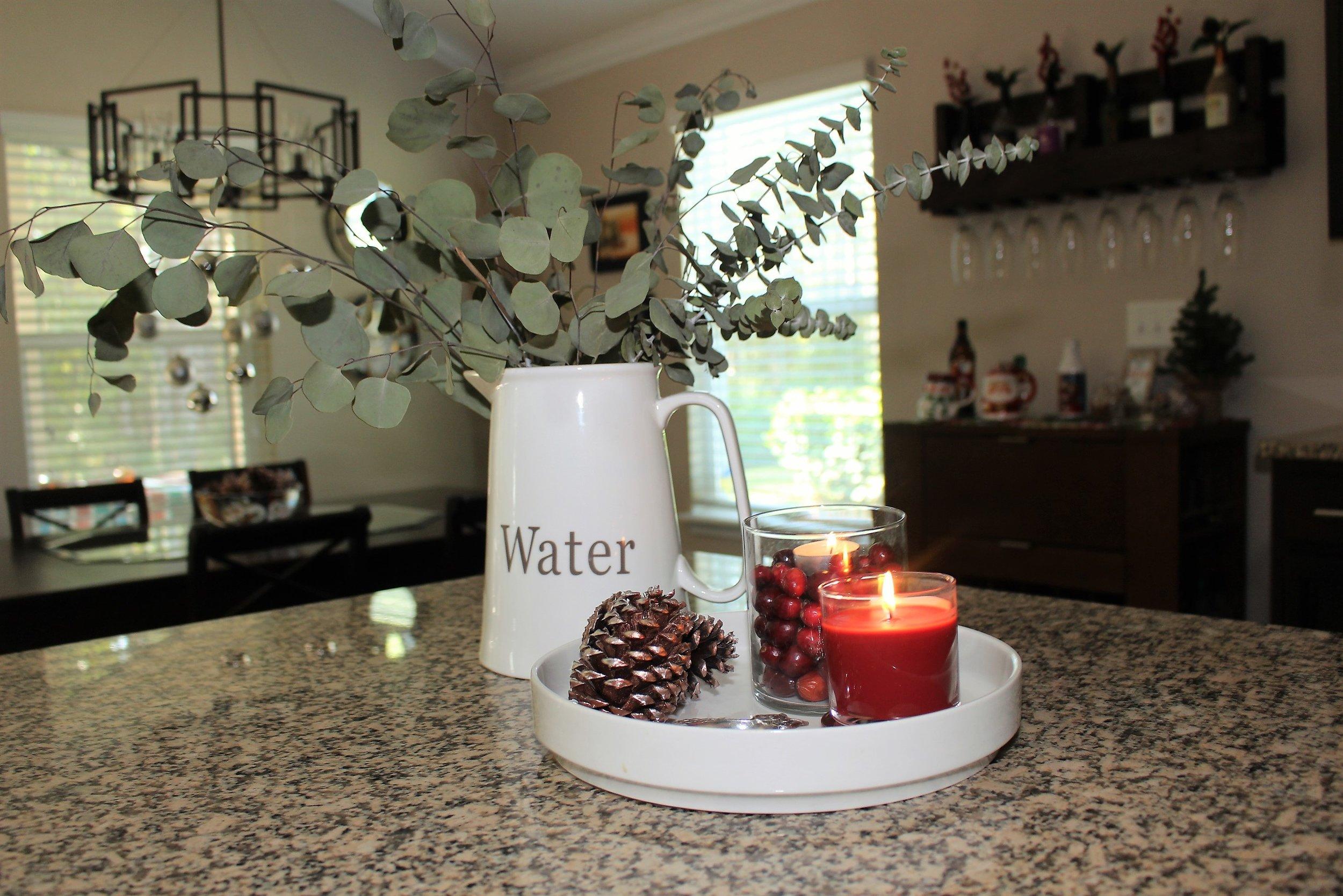 DIY Silver and Copper Pine Cones Kitchen
