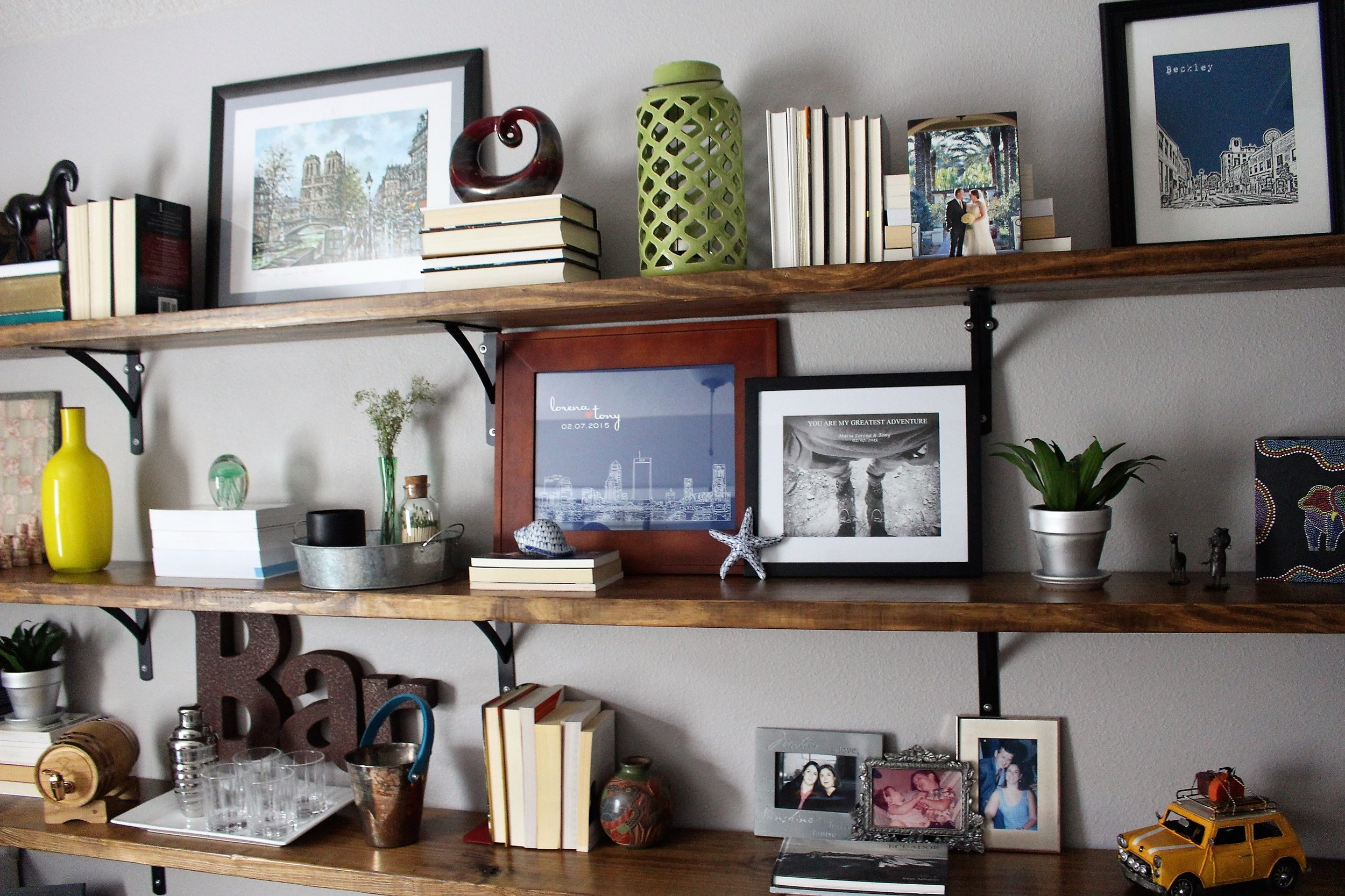 home office diy shelves