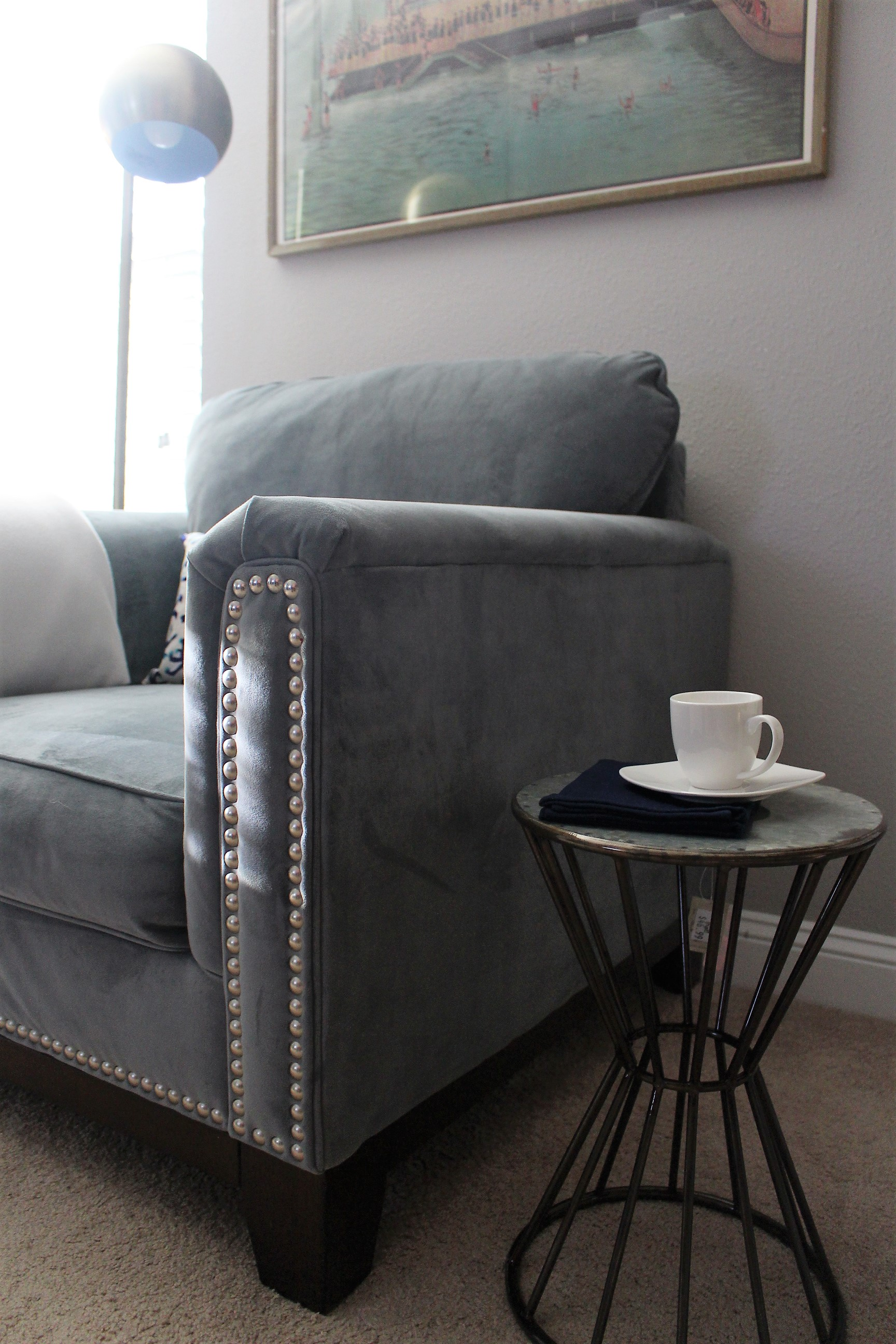 home office side table reading nook