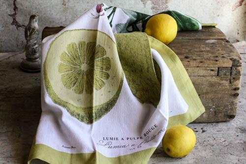 Botanical Lemon Tea Towel Eco Friendly - $7.00