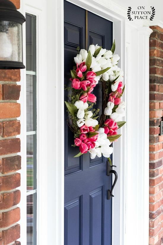 On Sutton Place - Tulip Wreath DIY