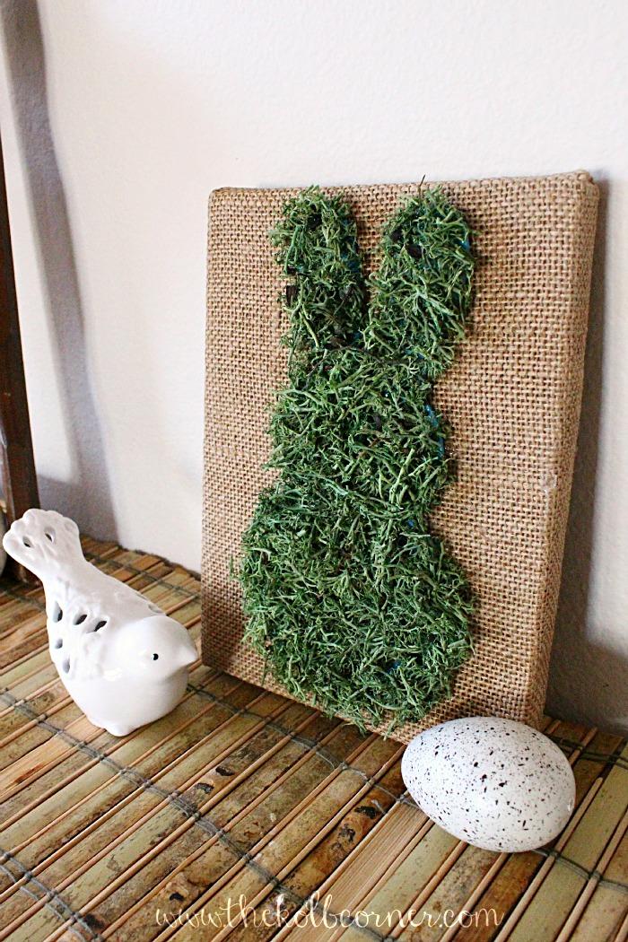 The Kolb Corner - Moss Covered Bunny Canvas DIY