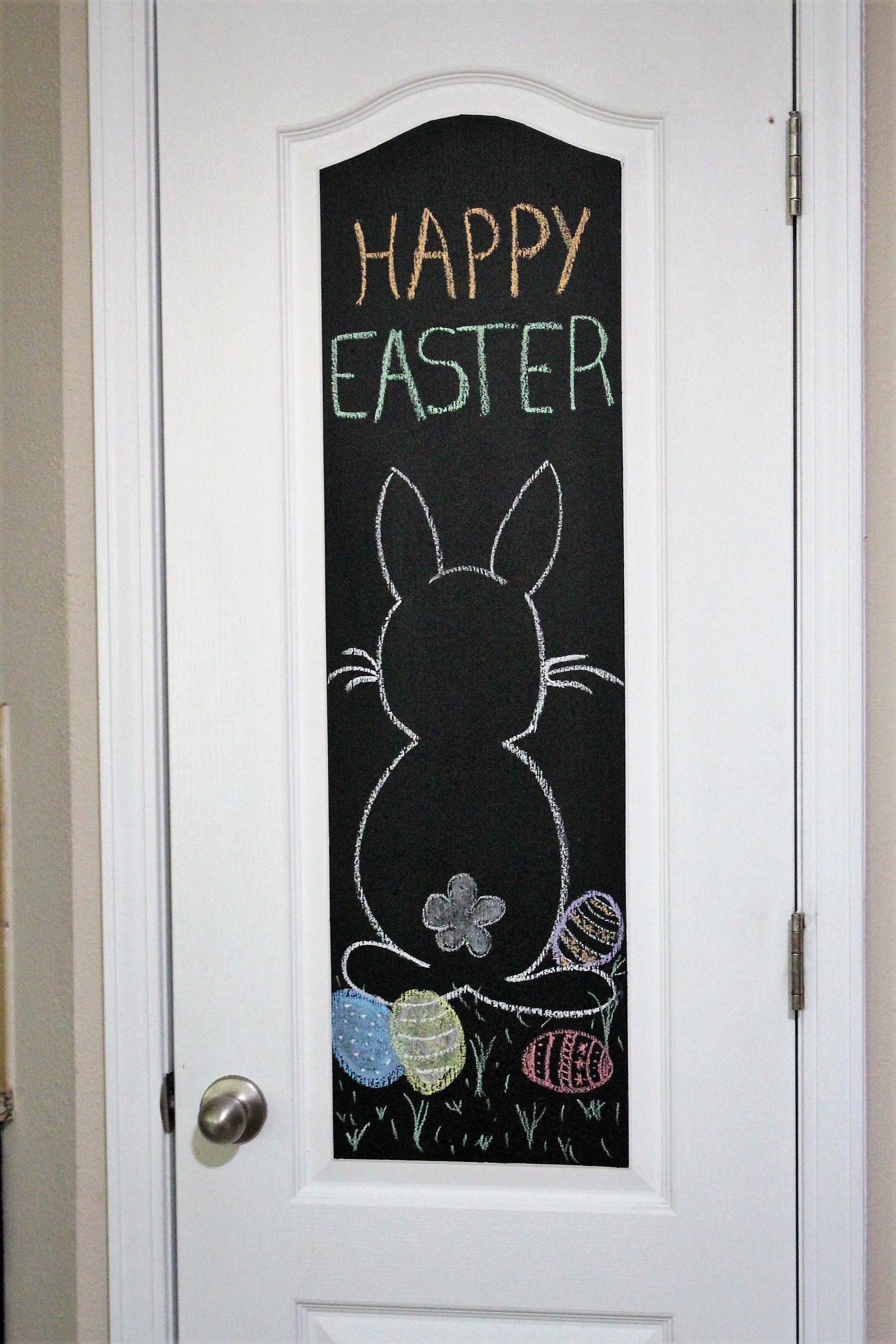 Easter chalk art