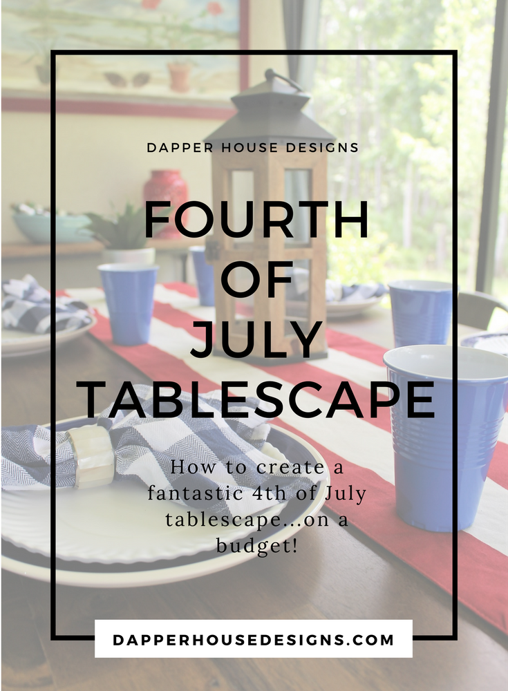 how to create a 4th of july tablescape on a budget