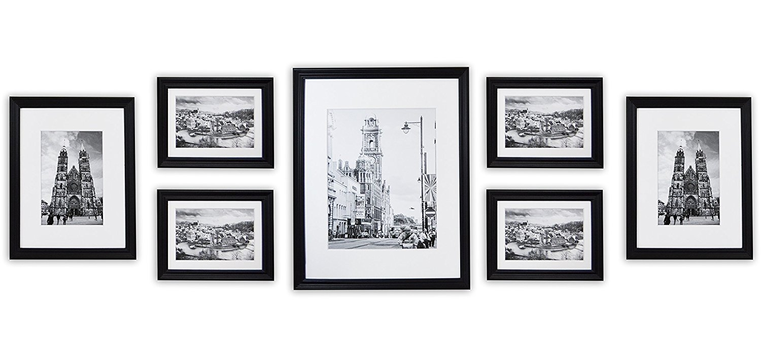 Wall Frames Collection, Black Wood Frame Set for Pictures from  Amazon