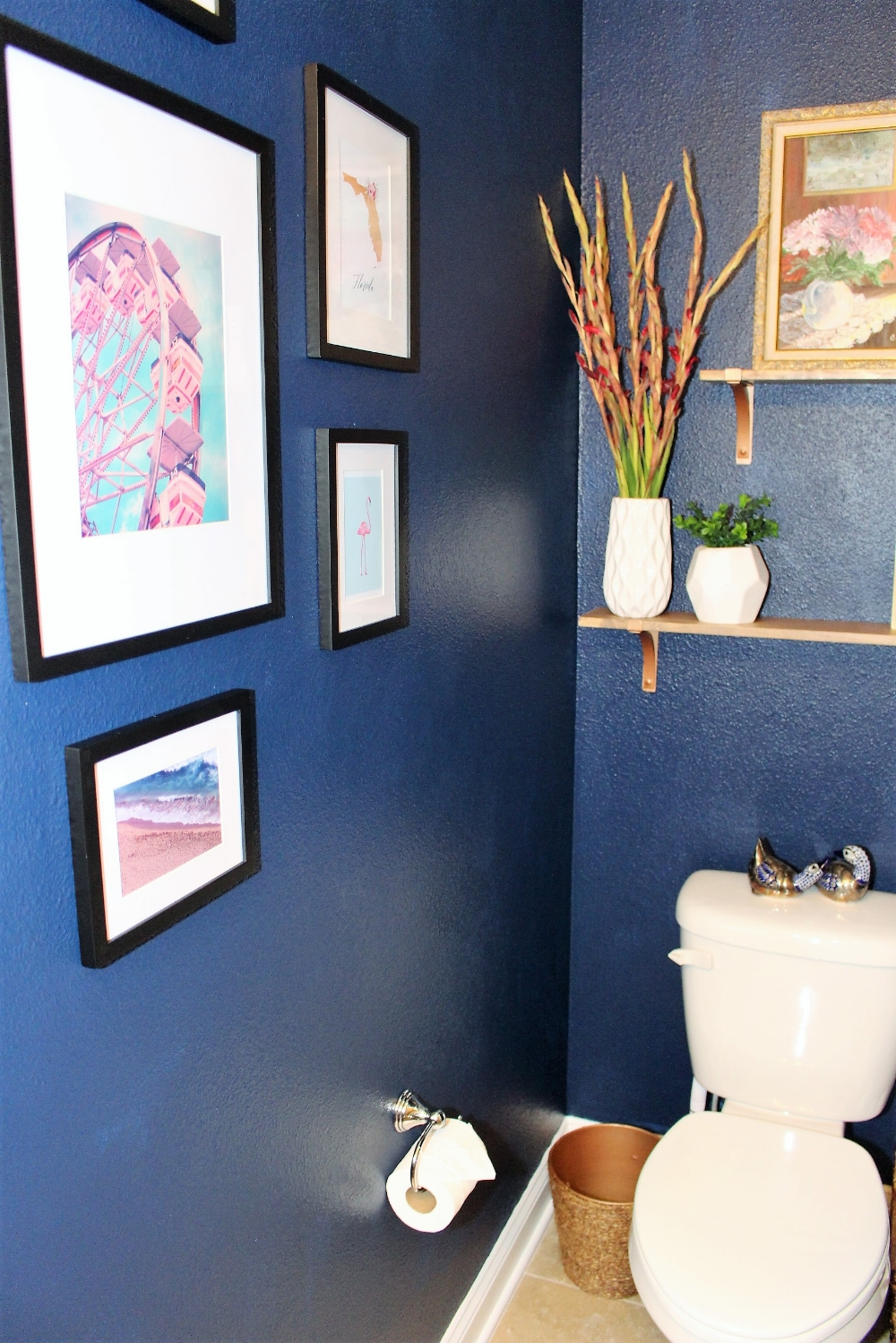 Powder Room Makeover for $100