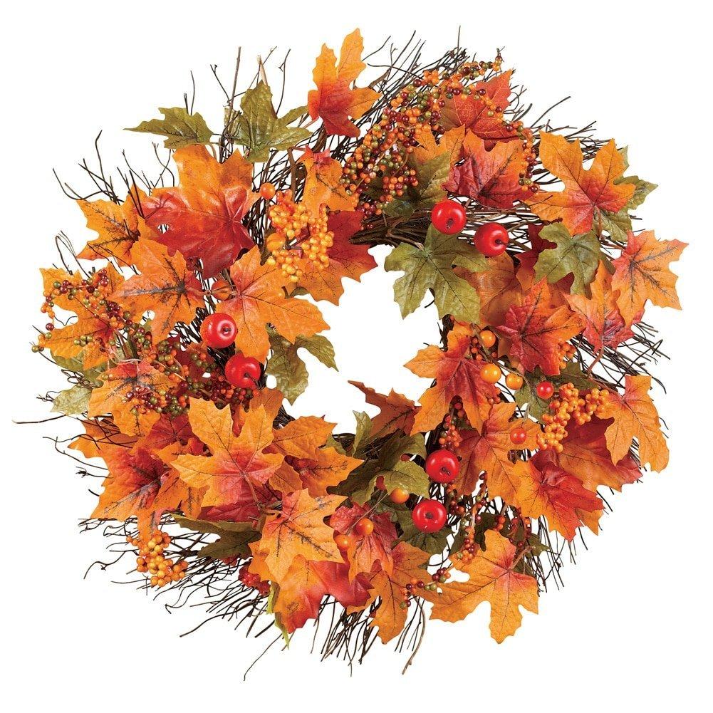 Berry & Autumn Leaves Wreath - $44.84