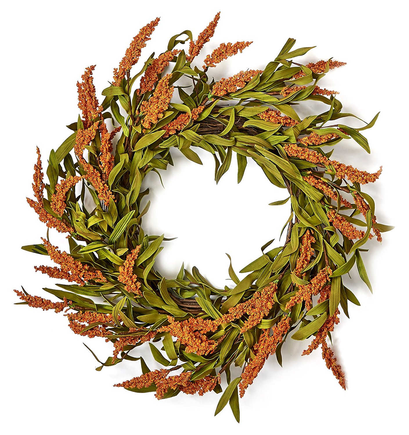 """Worth Imports 22"""" Fall Spike Wreath on Natural Twig Base - $36.60"""