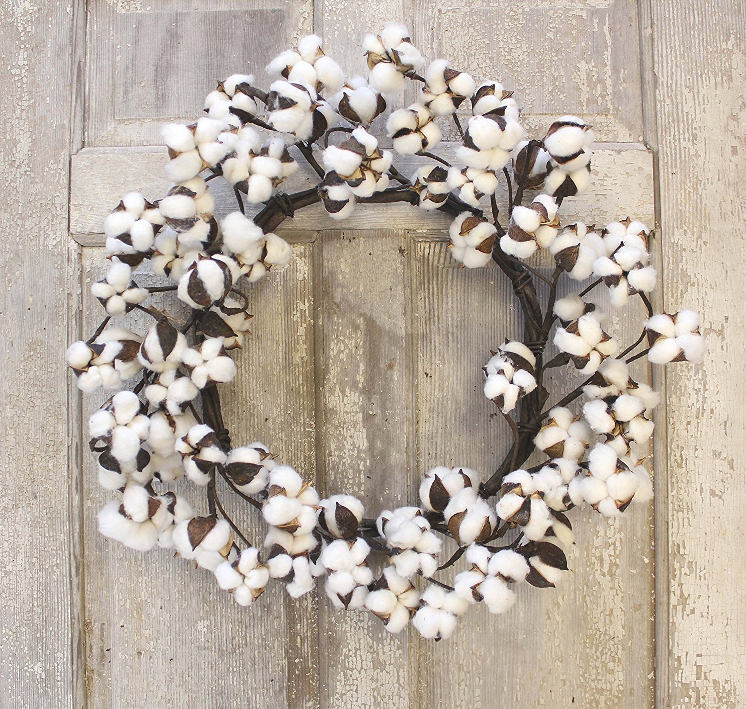 Real Cotton Wreath - $44.88