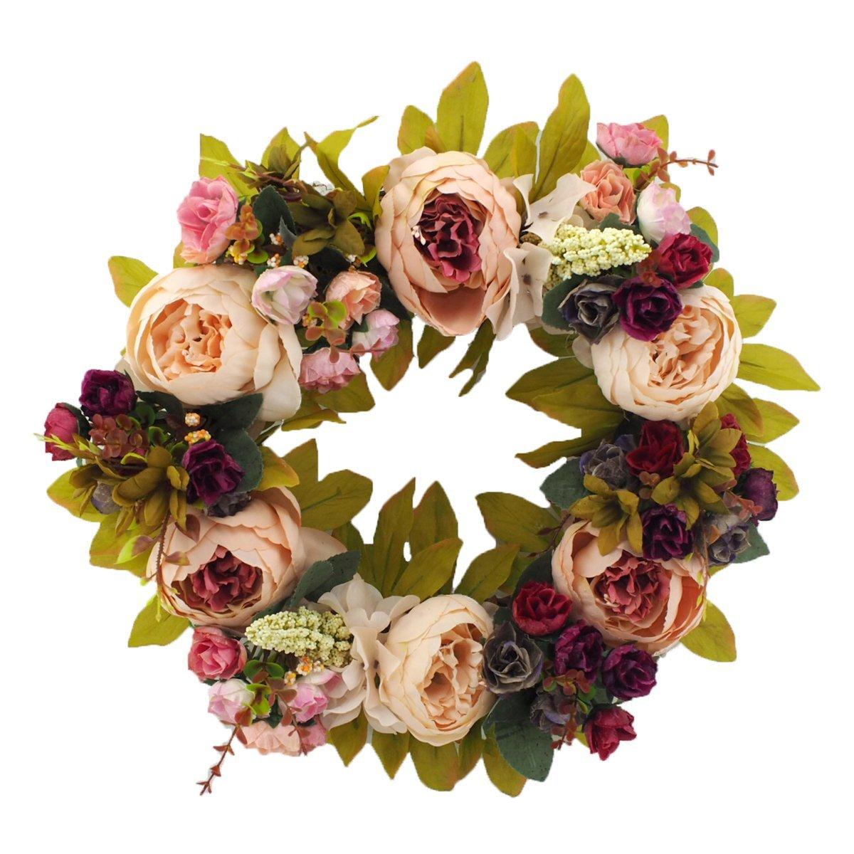 Handmade Flower Wreath - $33.99