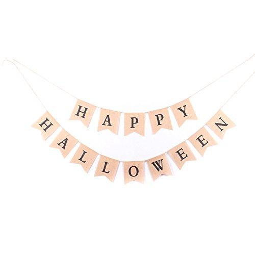 Because we always need a burlap banner!  Happy Halloween Burlap Banner - $11.99