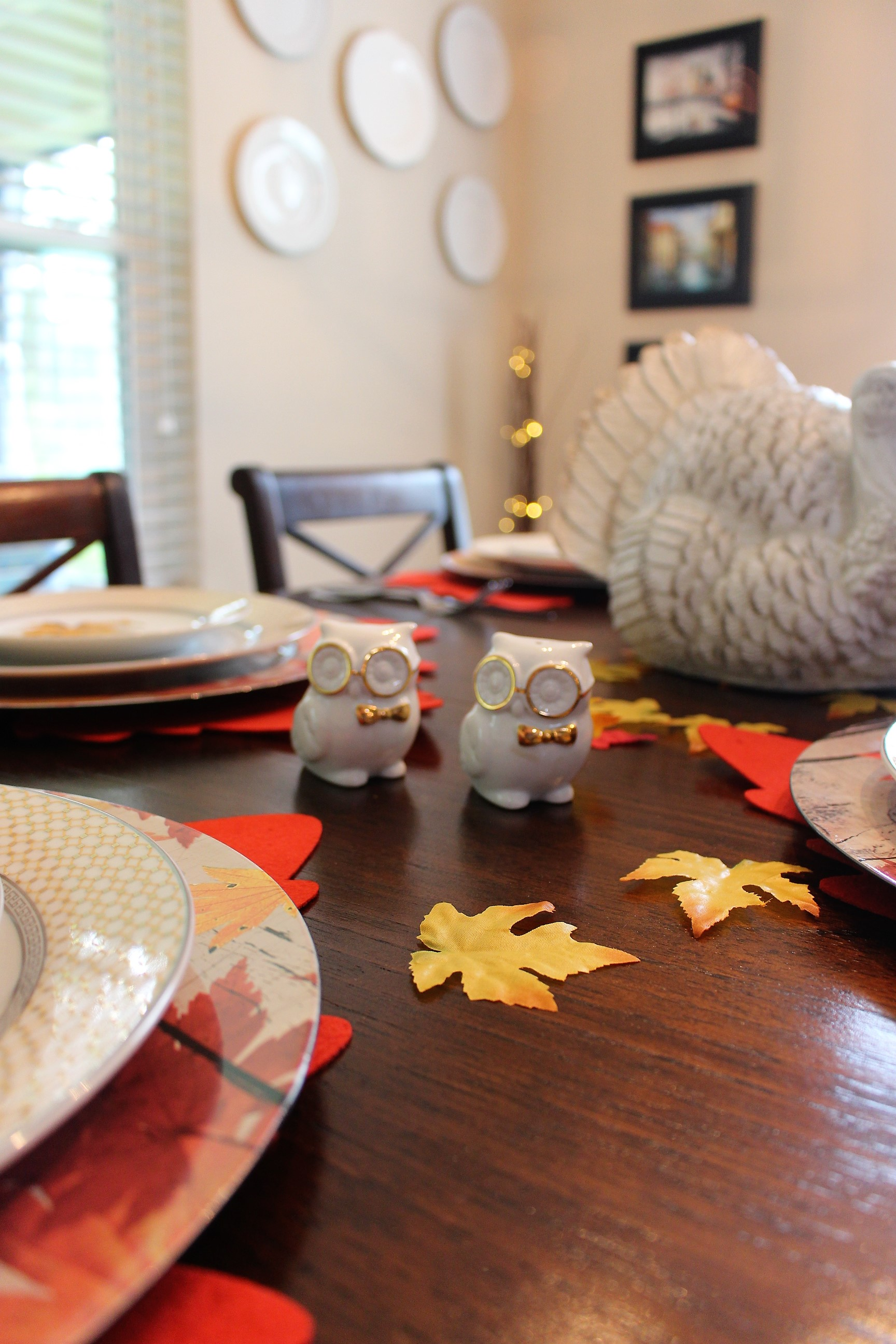 Thanksgiving Owl salt & pepper shakers
