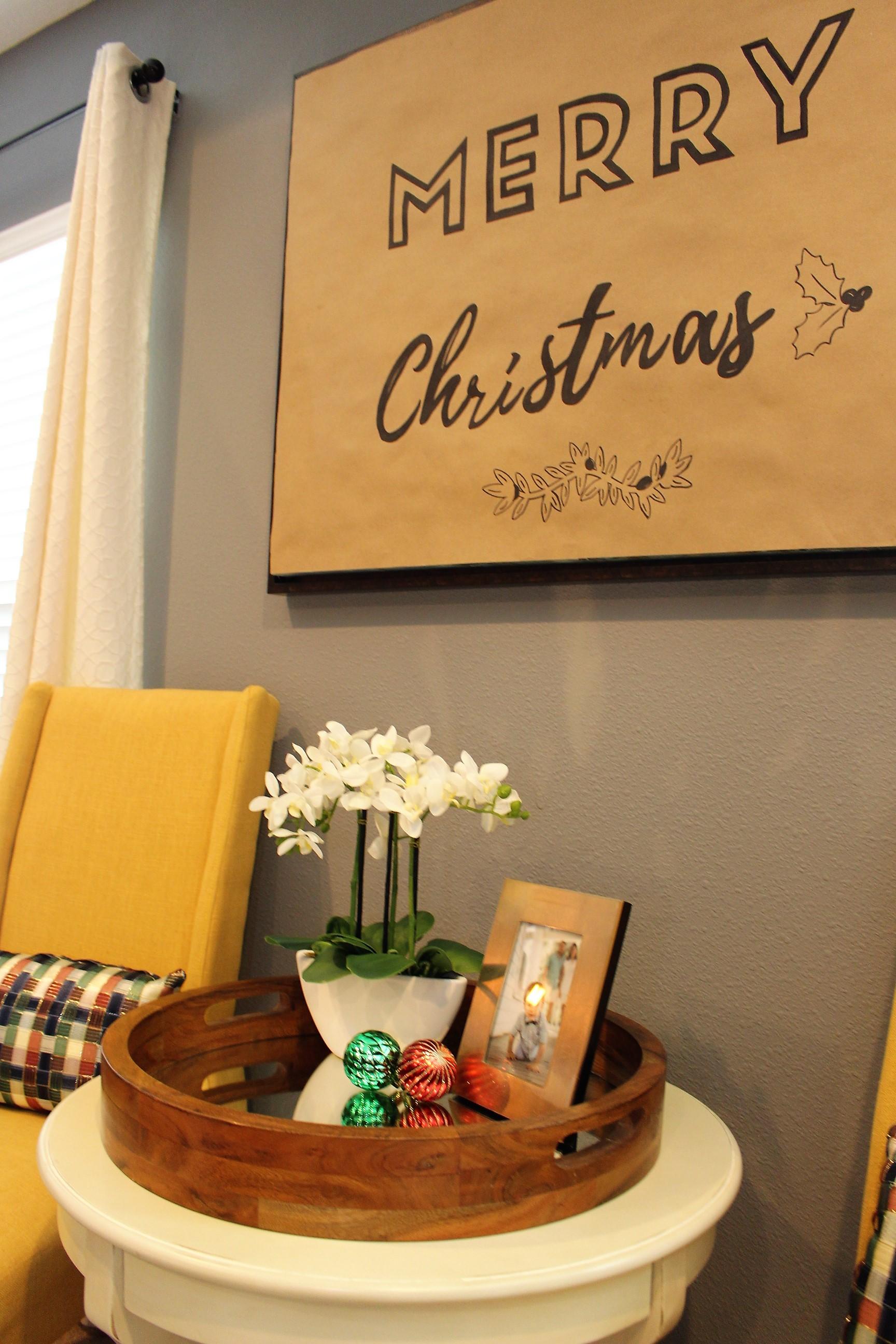 Christmas Scroll Sign DIY