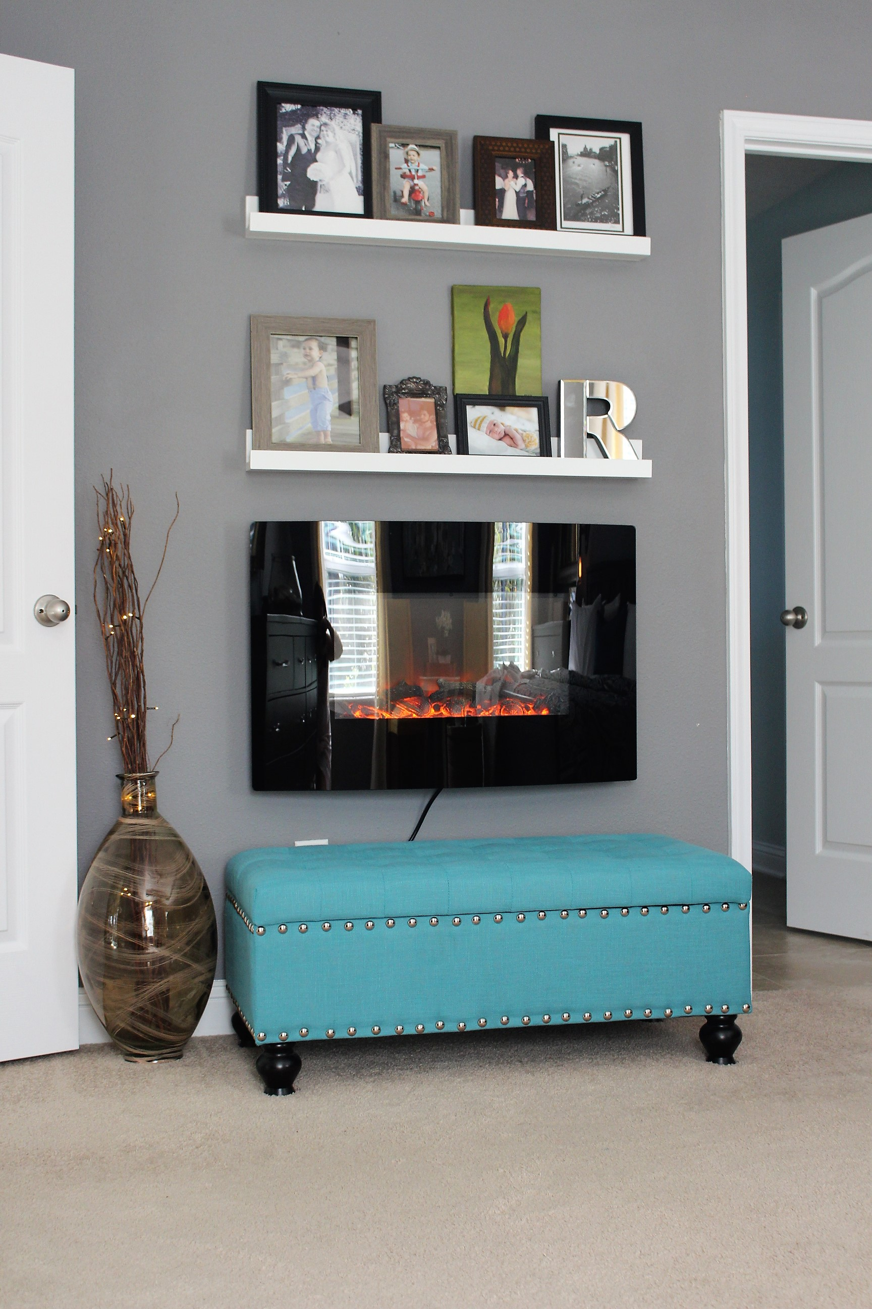 decorating an electric fireplace