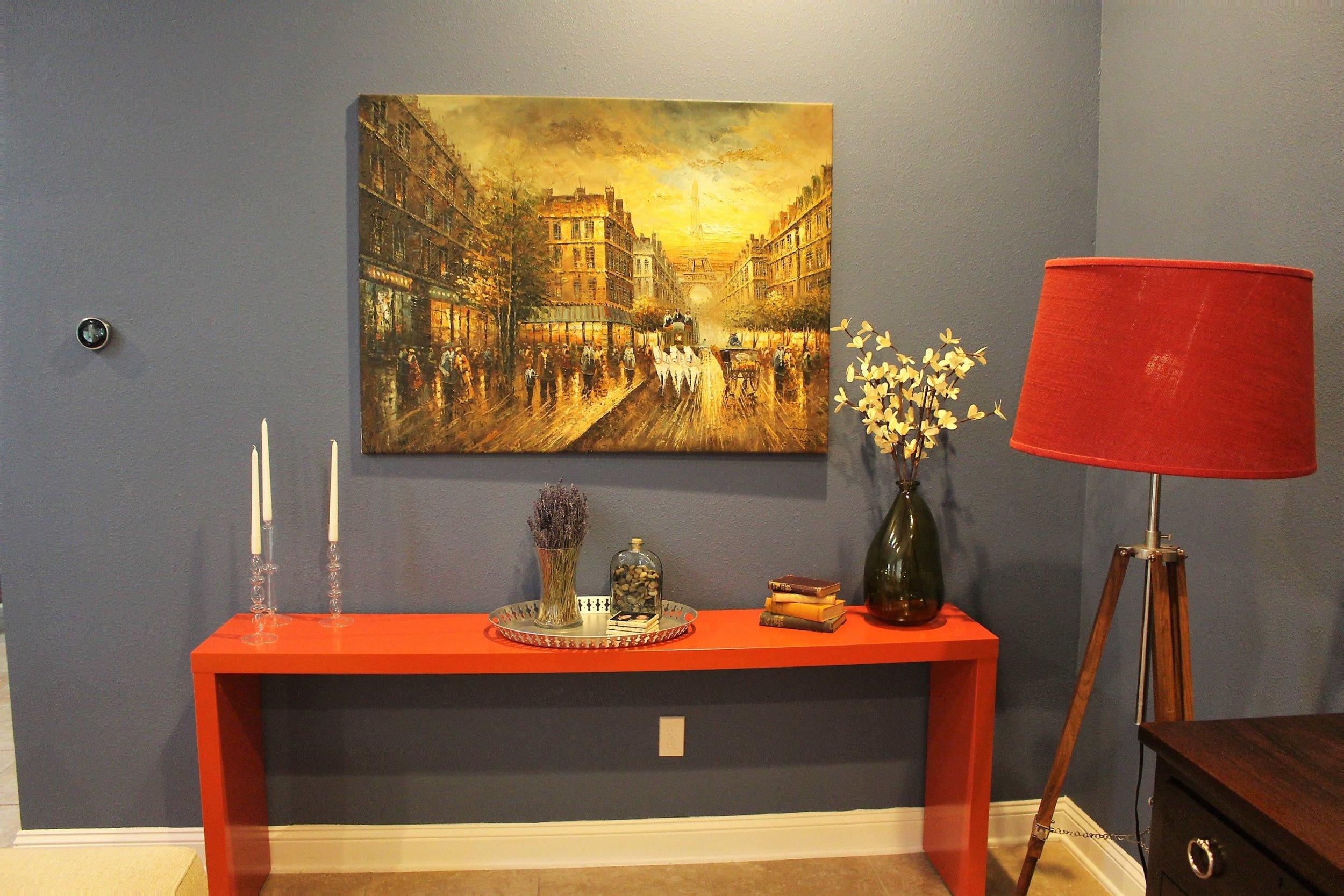 BEFORE - malm desk living room