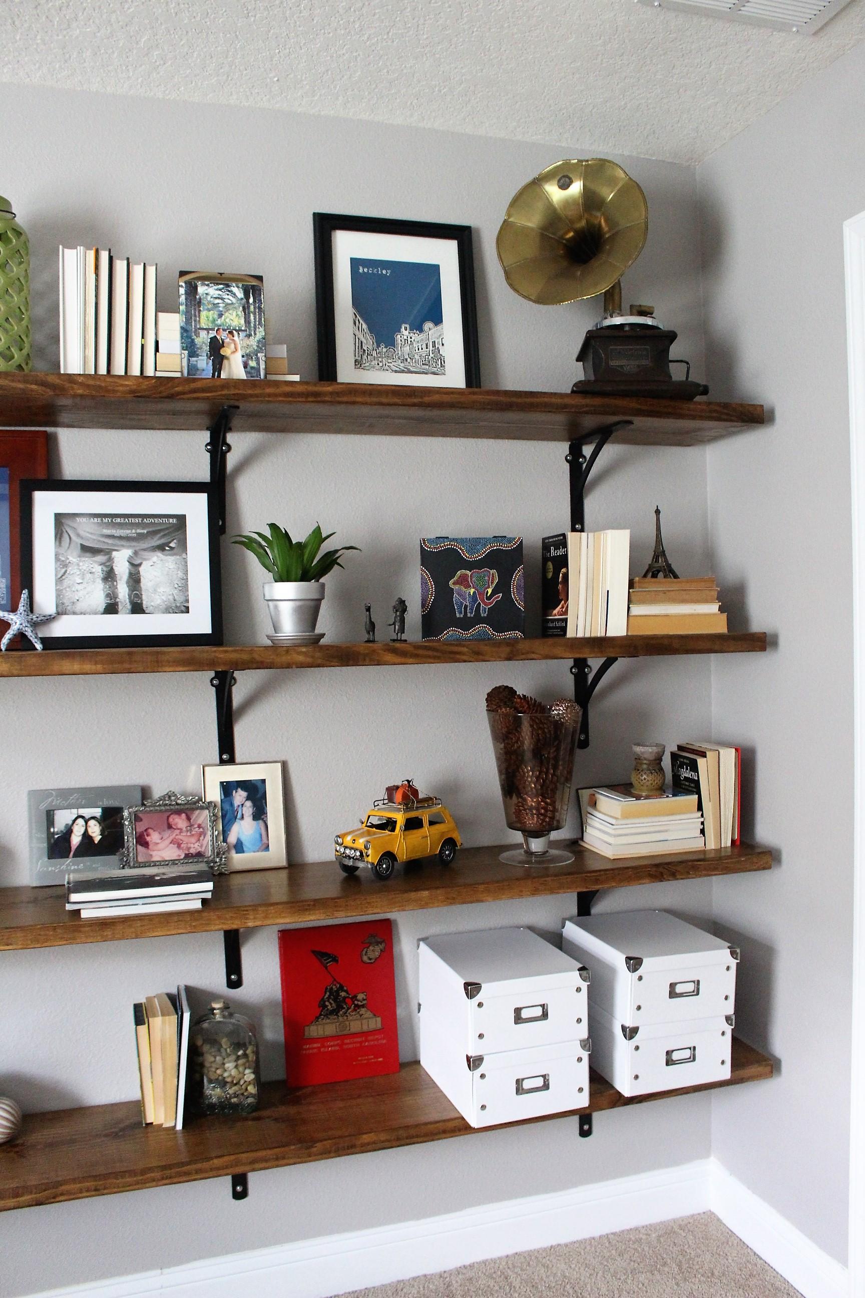 Home office shelving decor