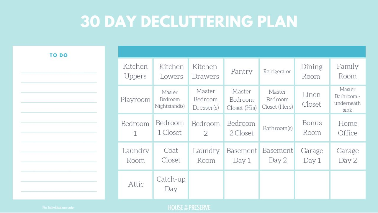 30 Decluttering Plan - House by the Preserve.JPG