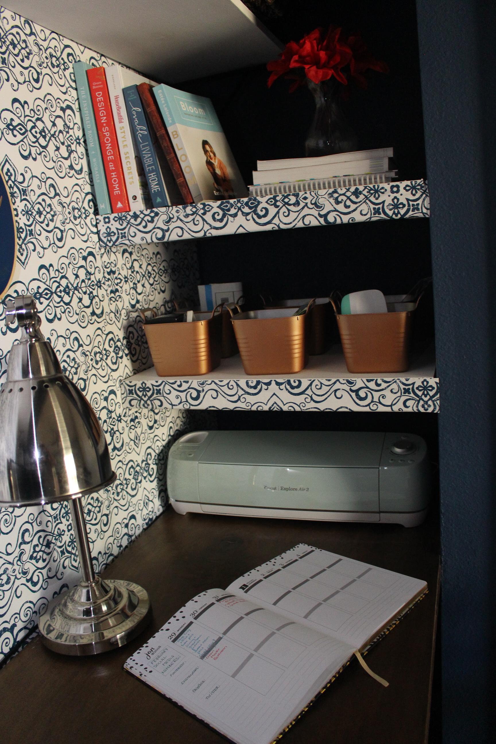 Closet Office Shelves